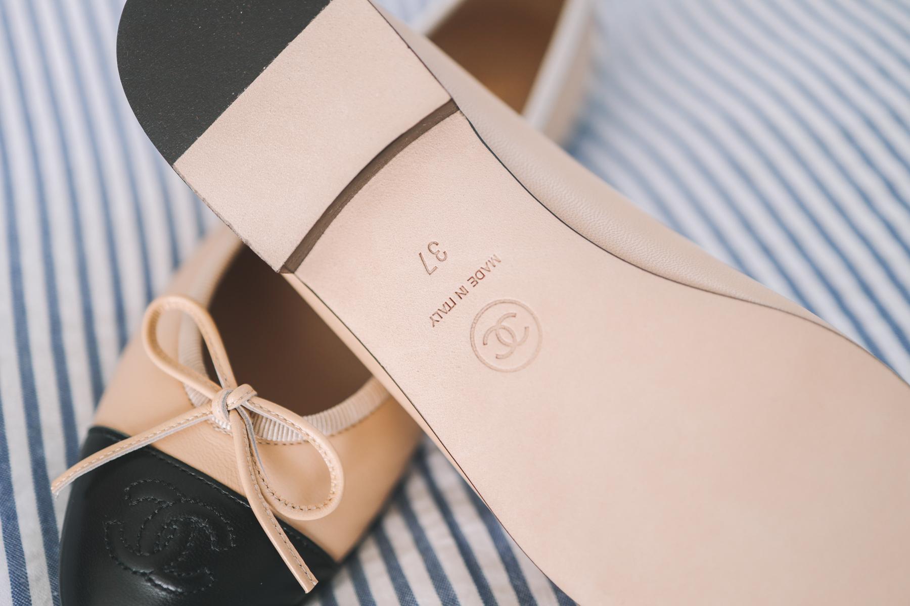 Chanel Cap Toe Ballerina Flats