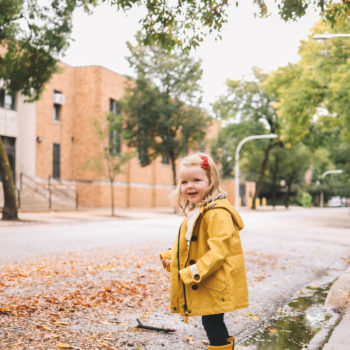 Larkins in Yellow Rain Coats