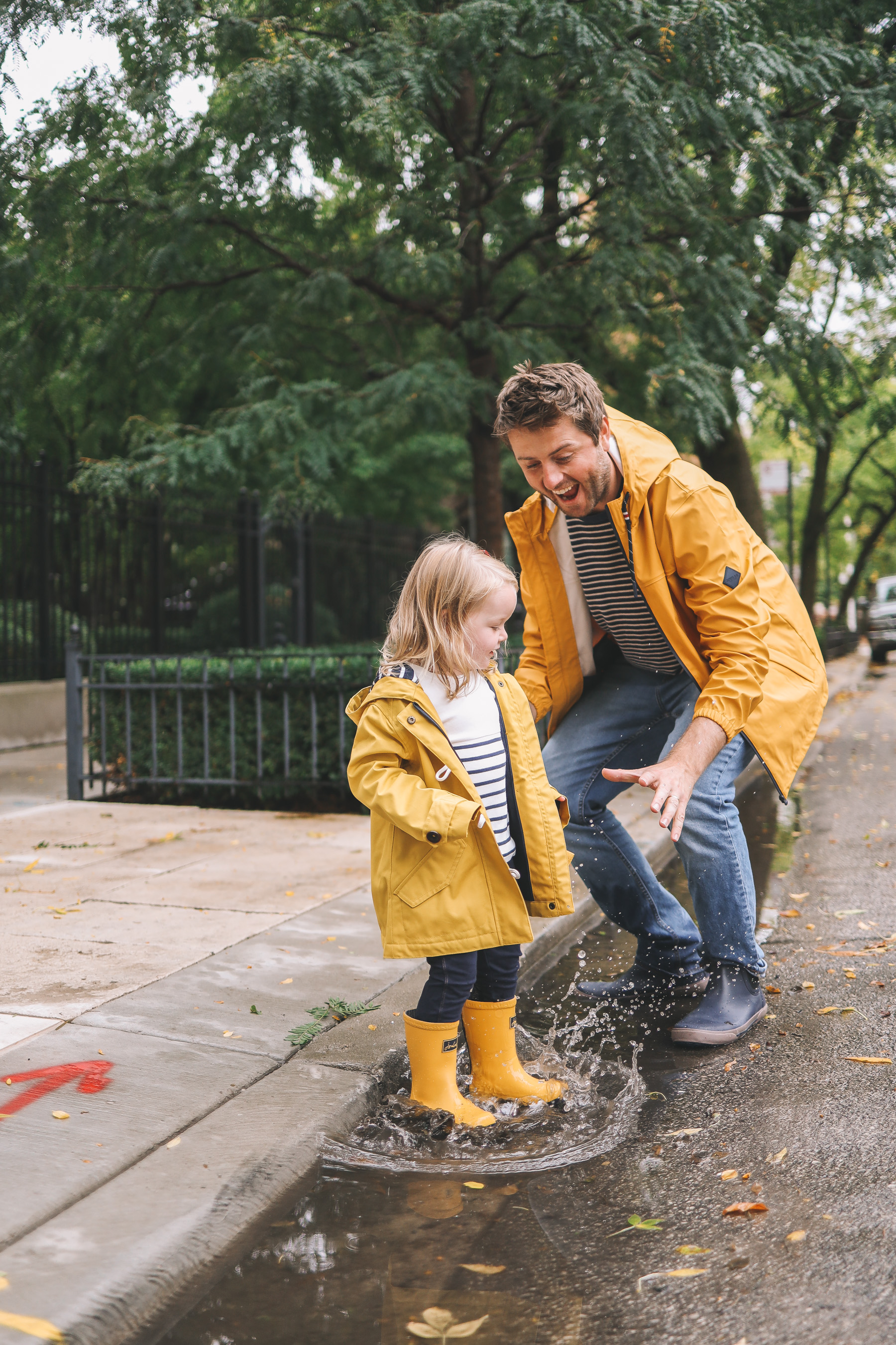 Joules rain gear in yellow