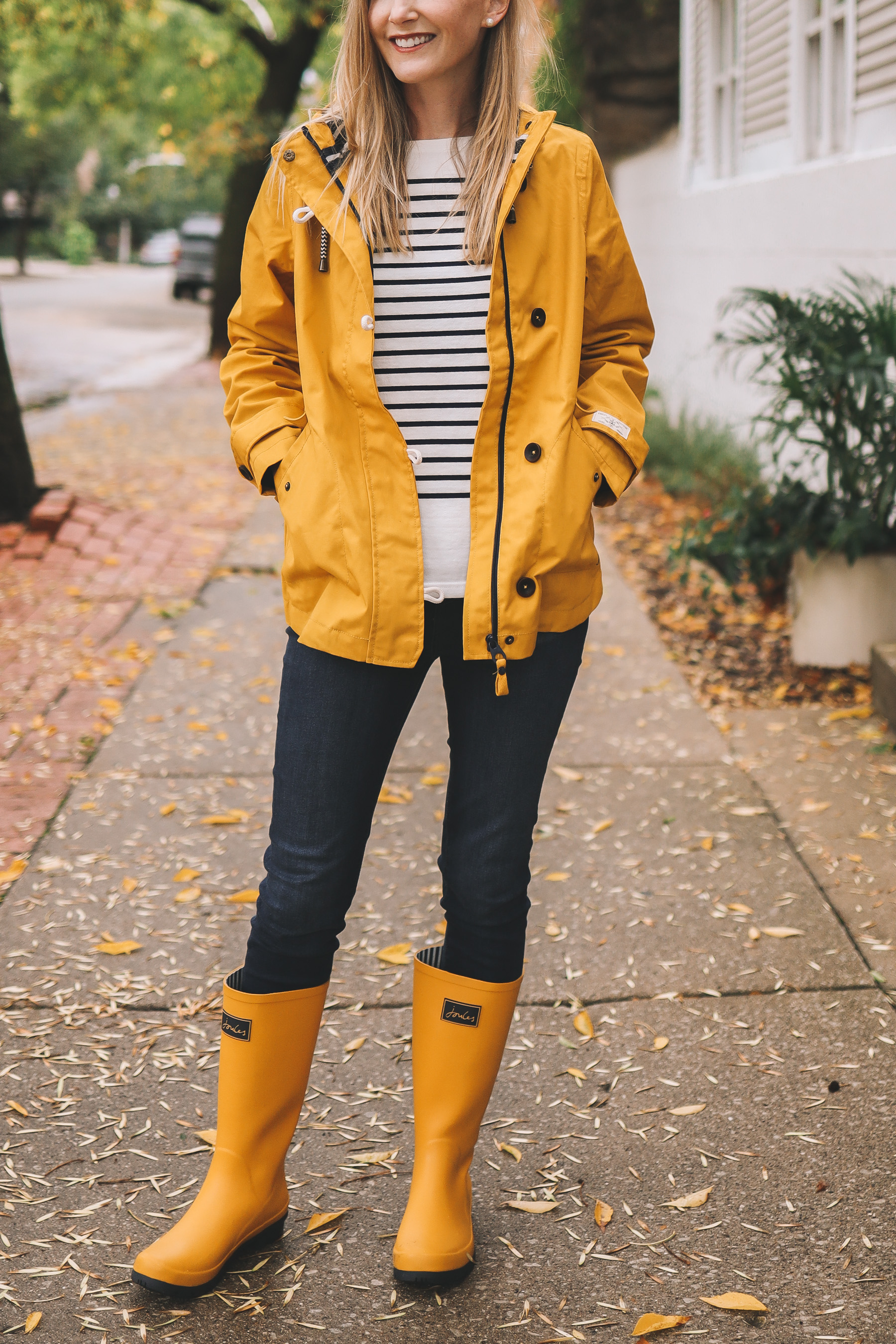 yellow Joules rain gear