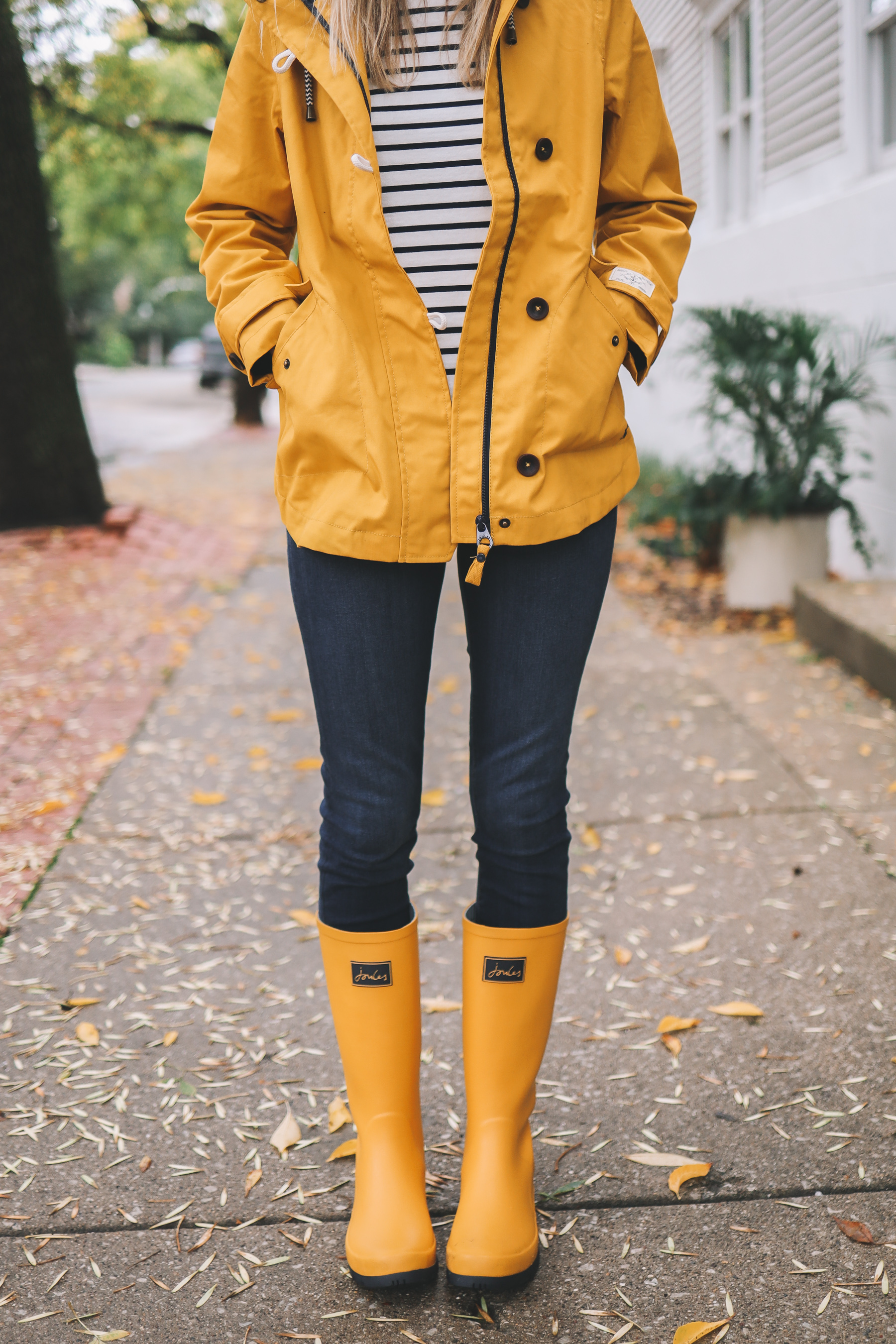 yellow rain gear