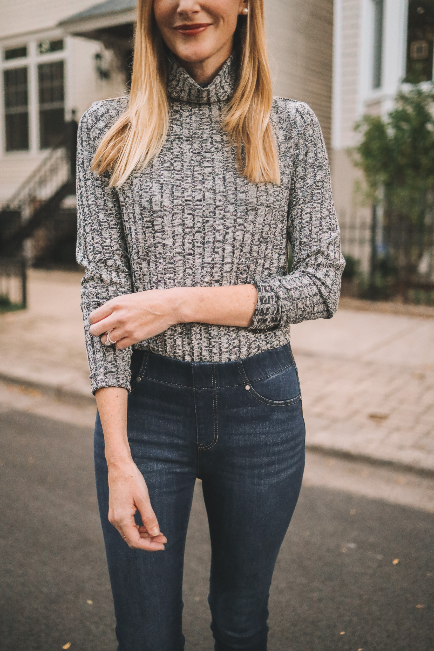 nic+zoe and liverpool pull-on skinny jeans