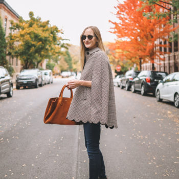 Scalloped Plaid Cape + Huge Talbots Sale