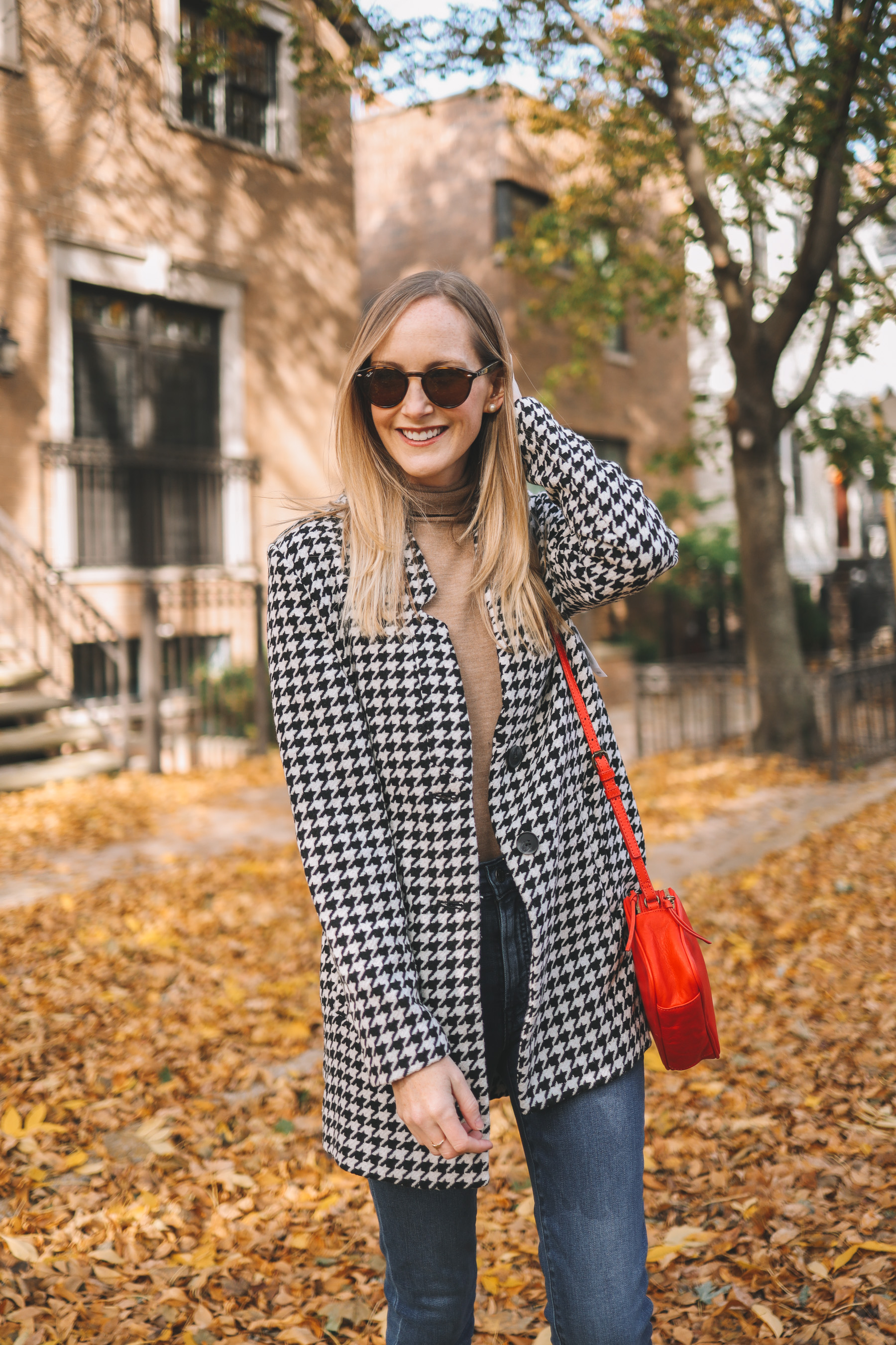 Old Navy Houndstooth Coat