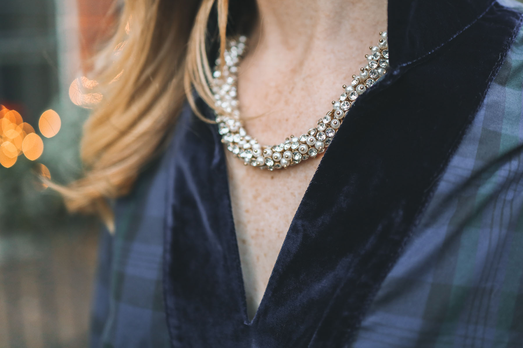 j.crew factory sparkly necklace
