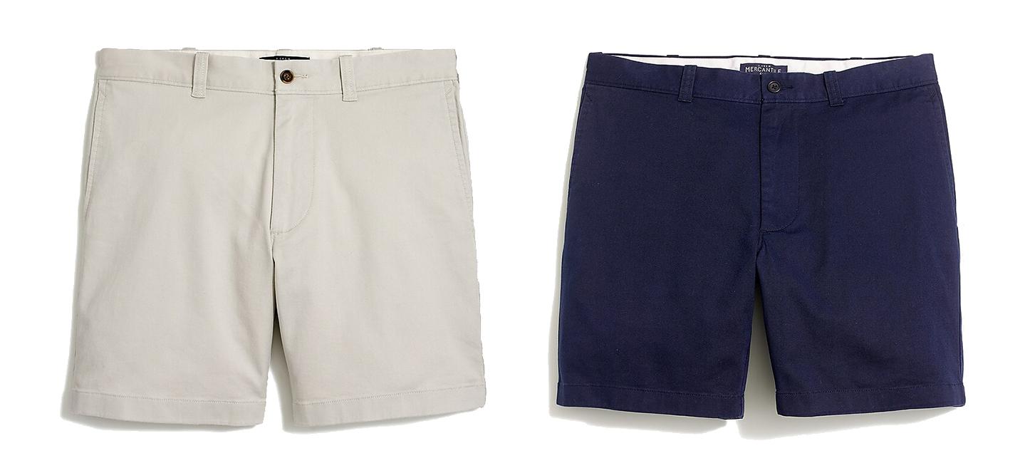 Shorts: Khaki / Navy