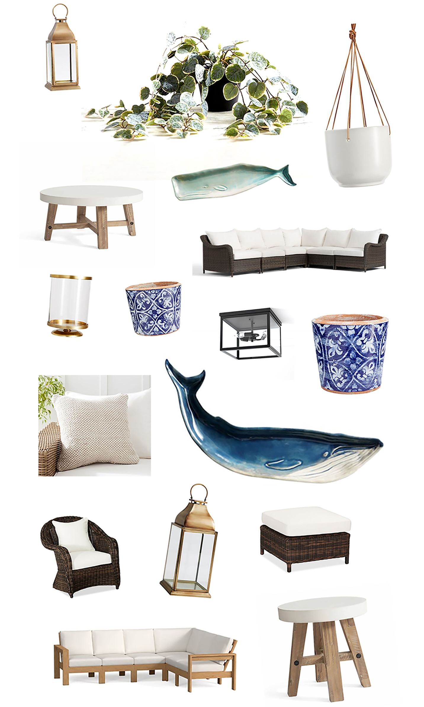 Outdoor Space Plans with Pottery Barn