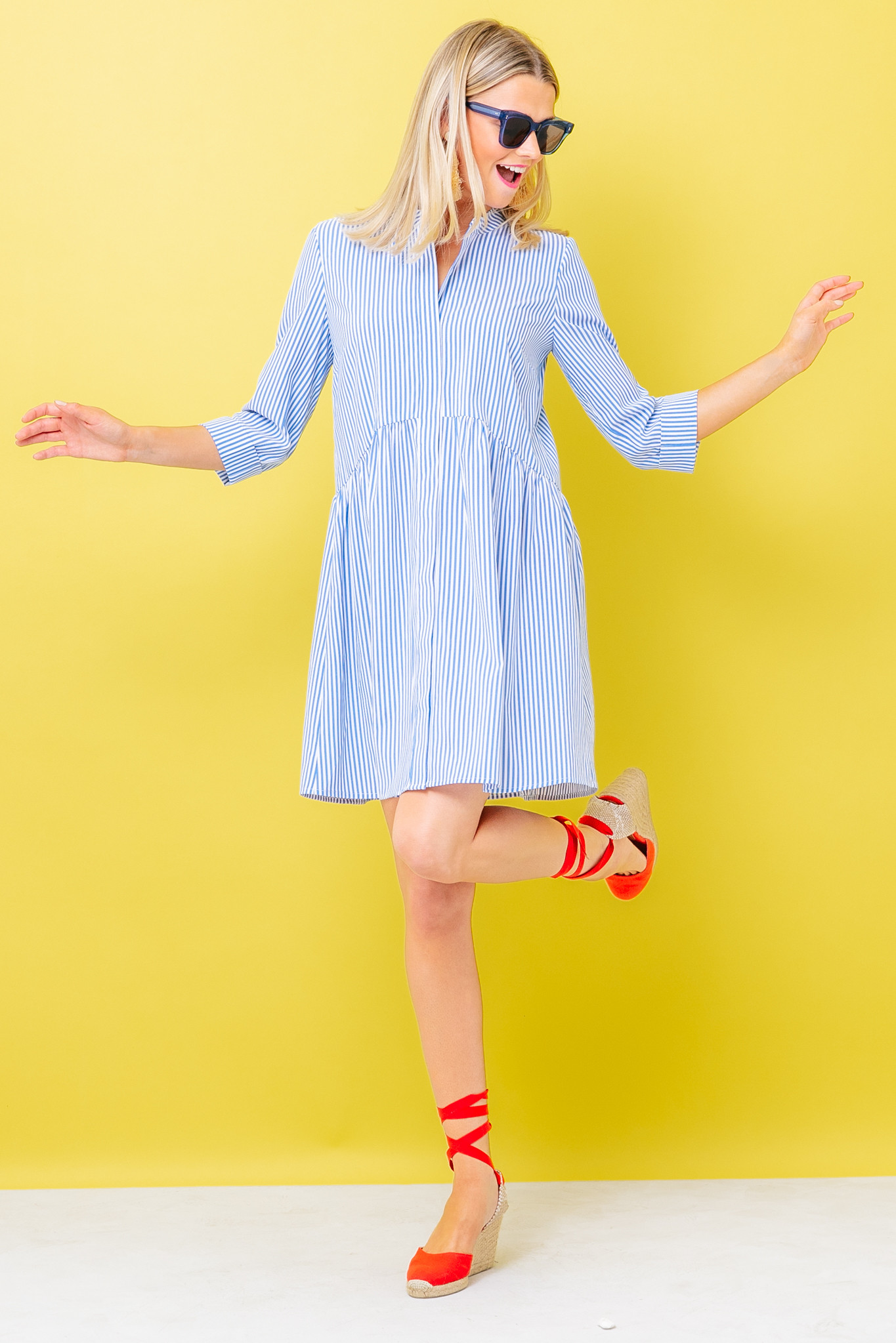 Wrinkle-Resistant Stripe Dress