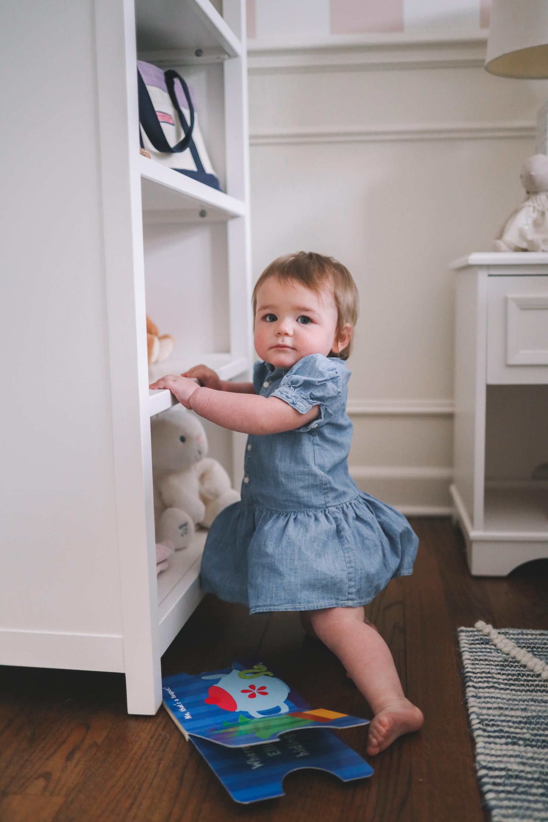chambray baby dress