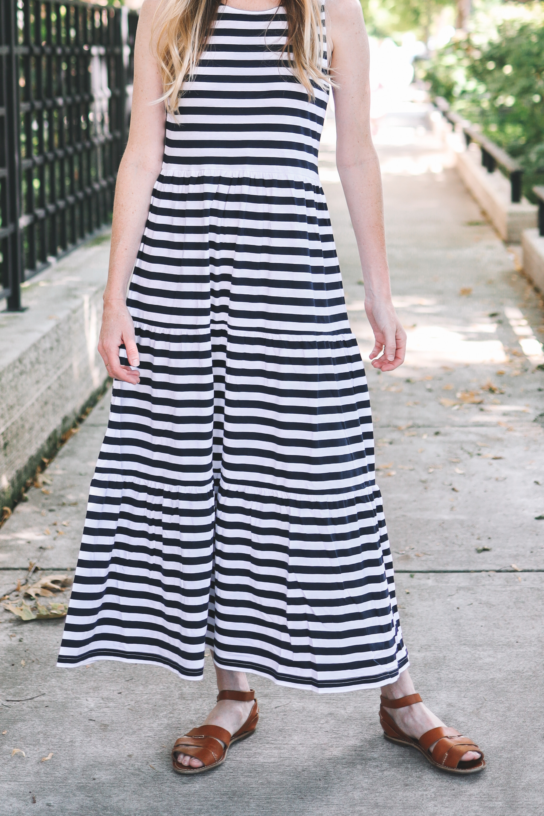 Tiered Knit Maxi Dress
