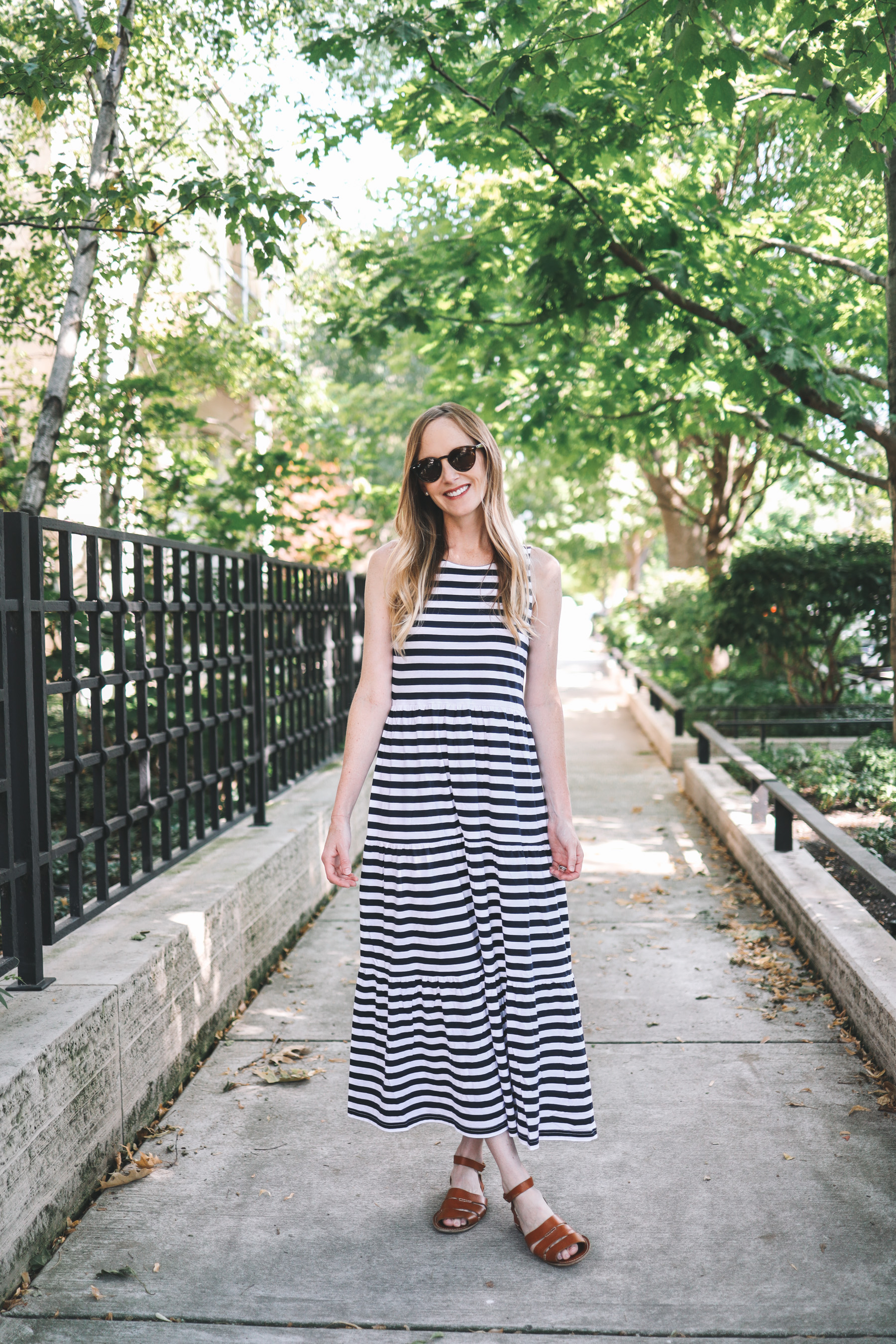 J.Crew Factory striped maxi dress