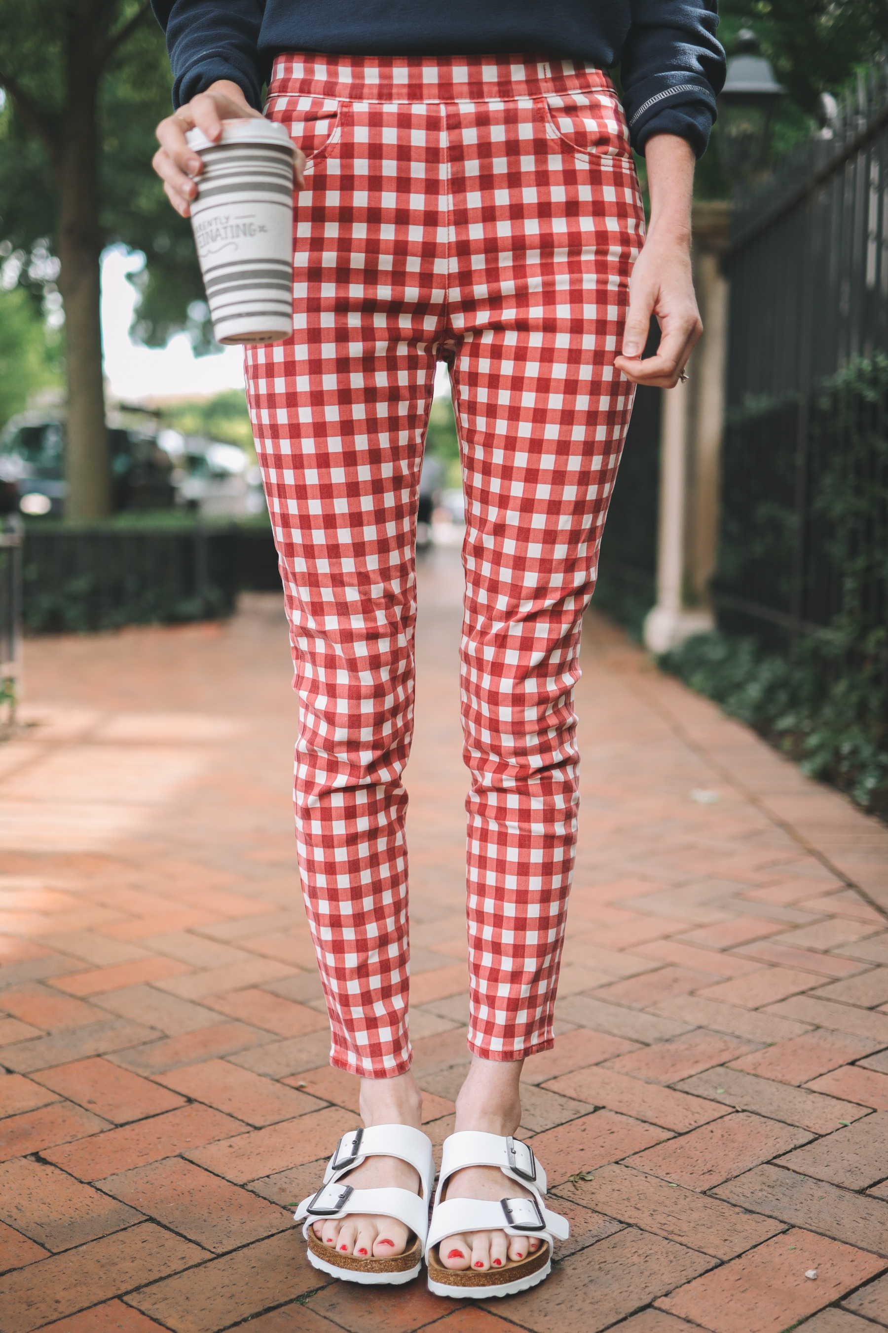 Gingham jeans