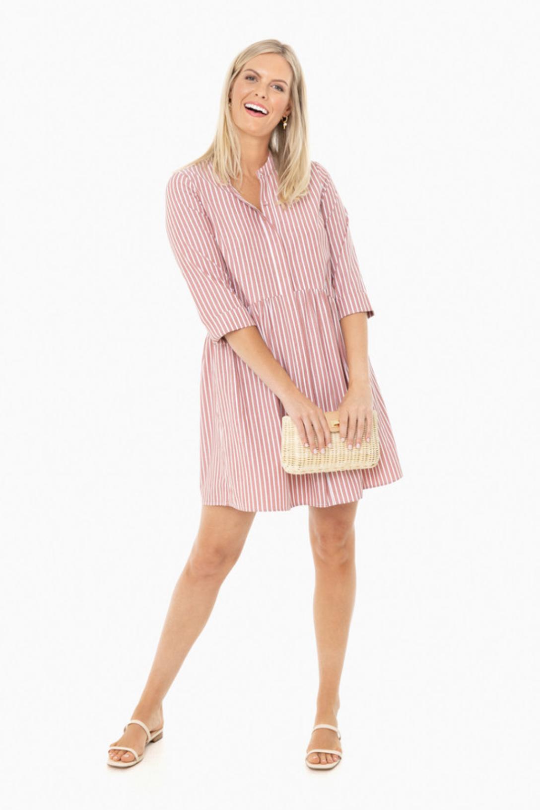 wrinkle-free shirt dress