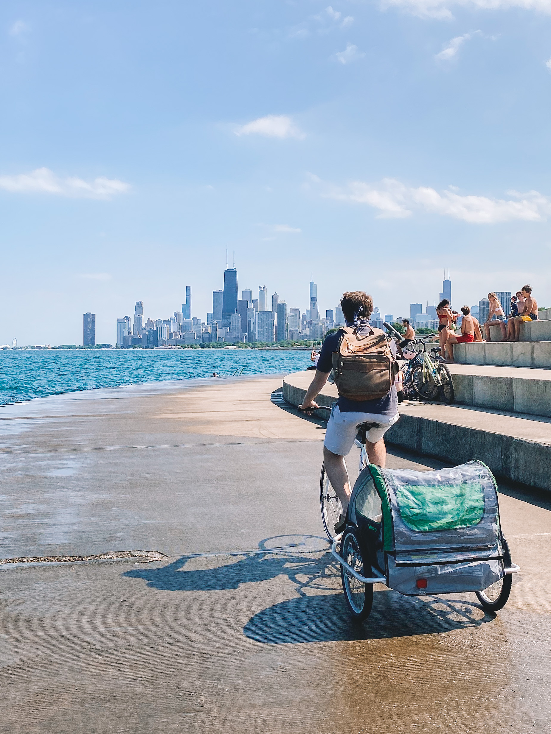 Biking the Chicago Lakefront Trail with Small Children