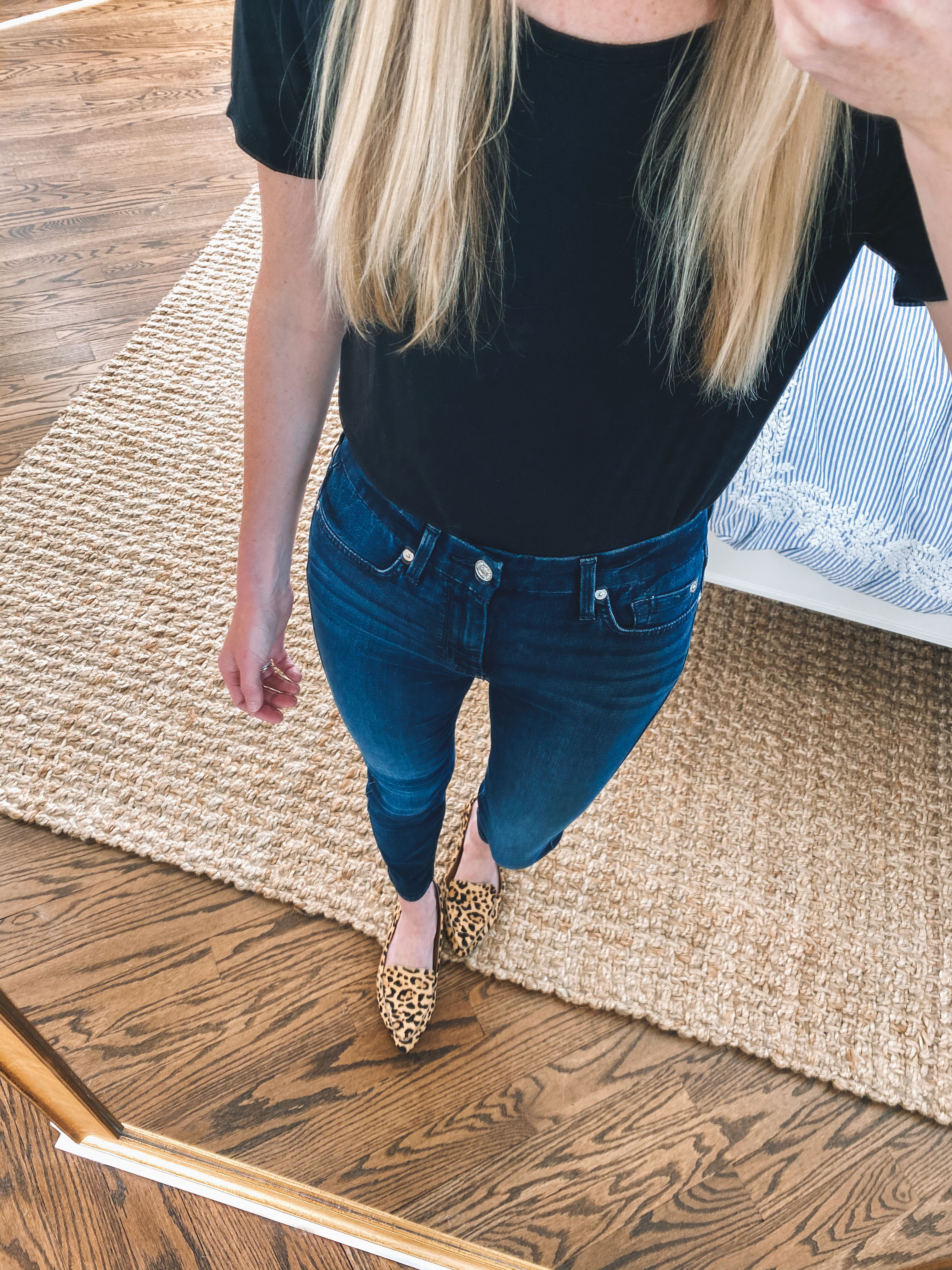 For All Mankind High Waist Ankle Skinny Jeans