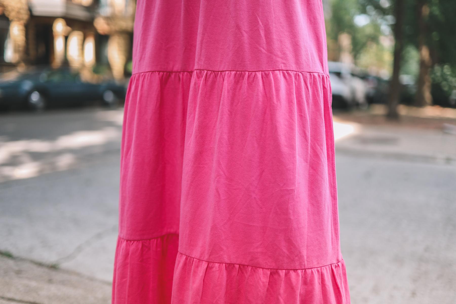 Tiered Knit Maxi Dress