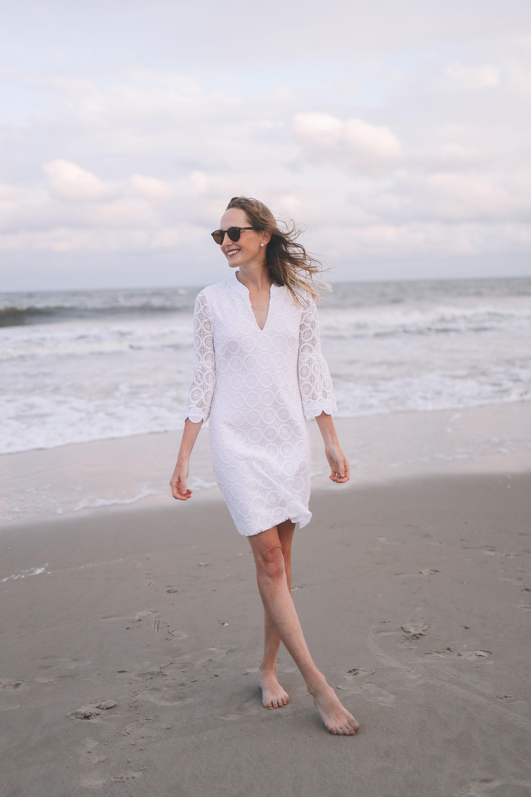 A White Lace Dress