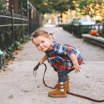 Baby in Bow Uggs