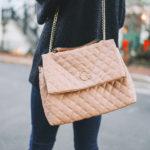 $24.99 C.Wonder Quilted Vegan Leather Flap Bag