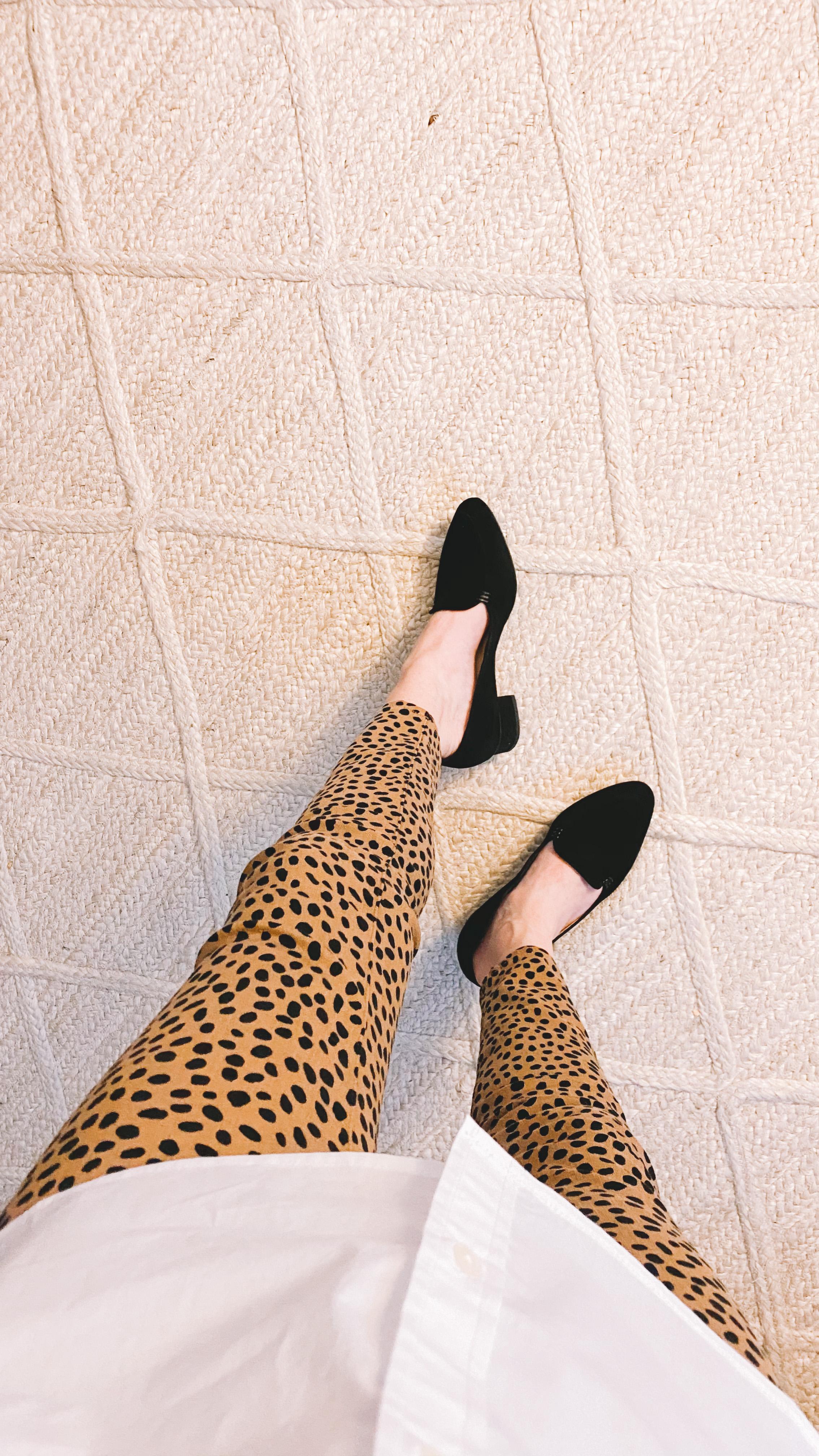 chunky heeled loafers!