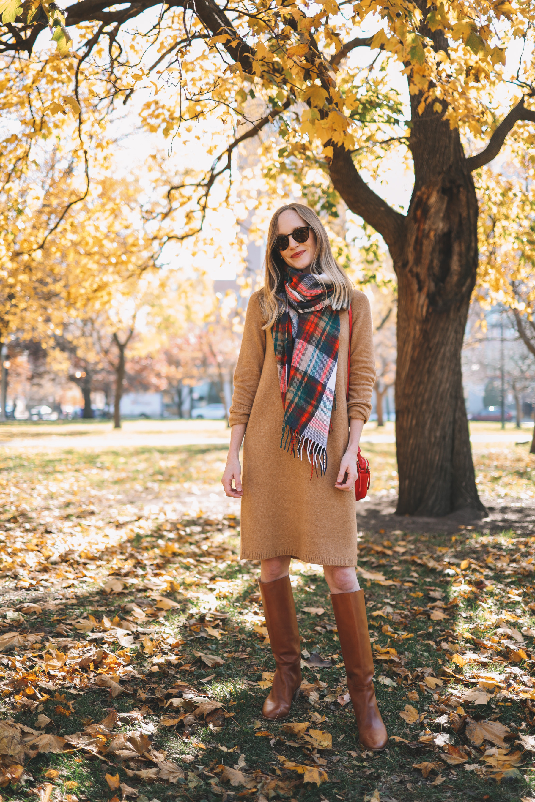Camel Sweater Dress J.Crew