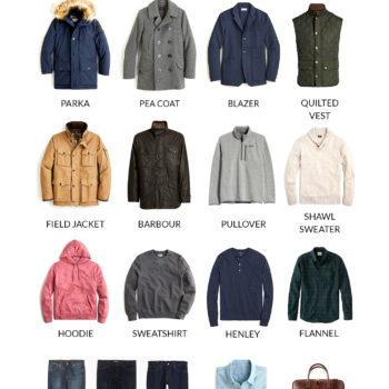 The Preppy Man's Cold Weather Capsule Wardrobe