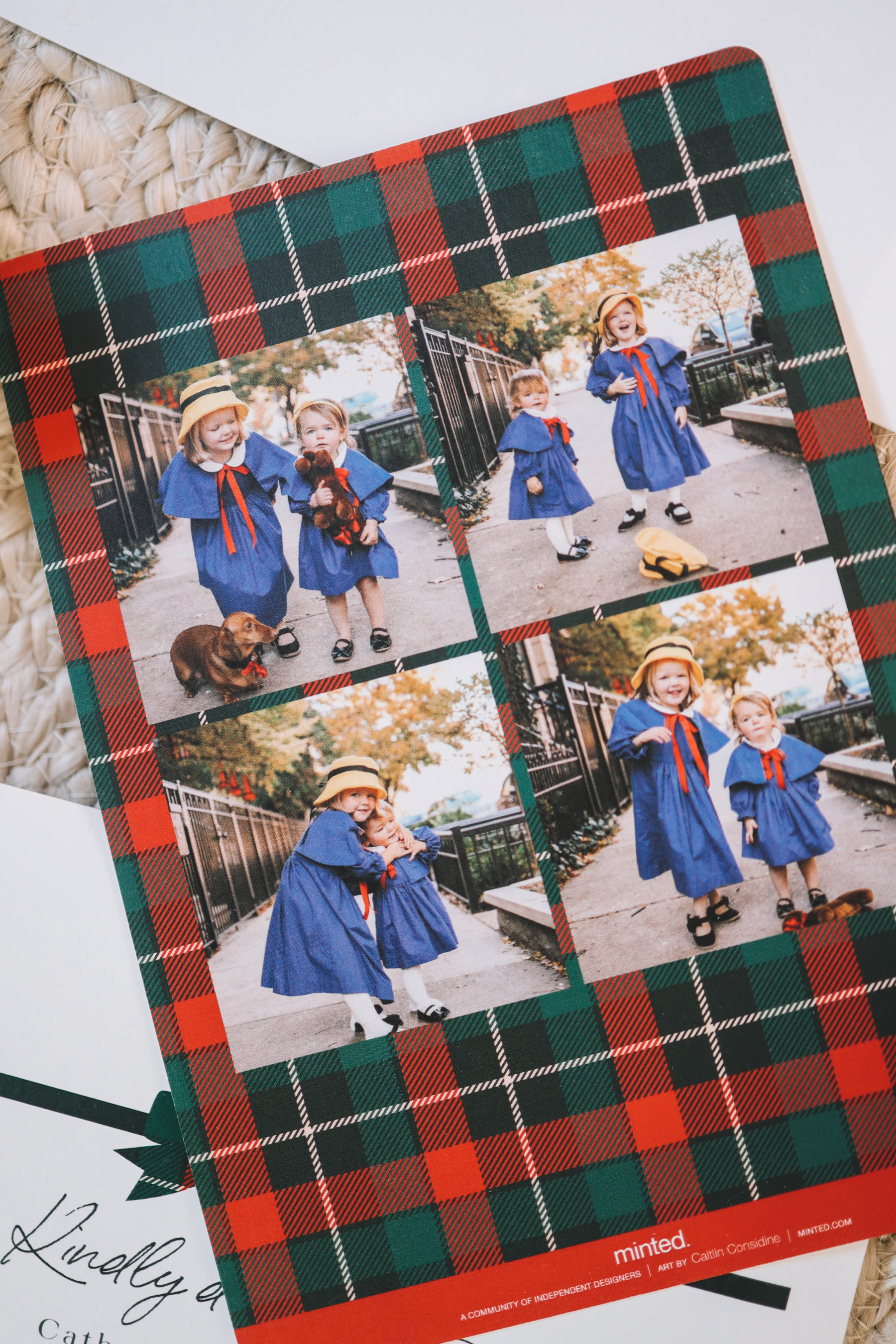 Plaid Bow Holiday Cards
