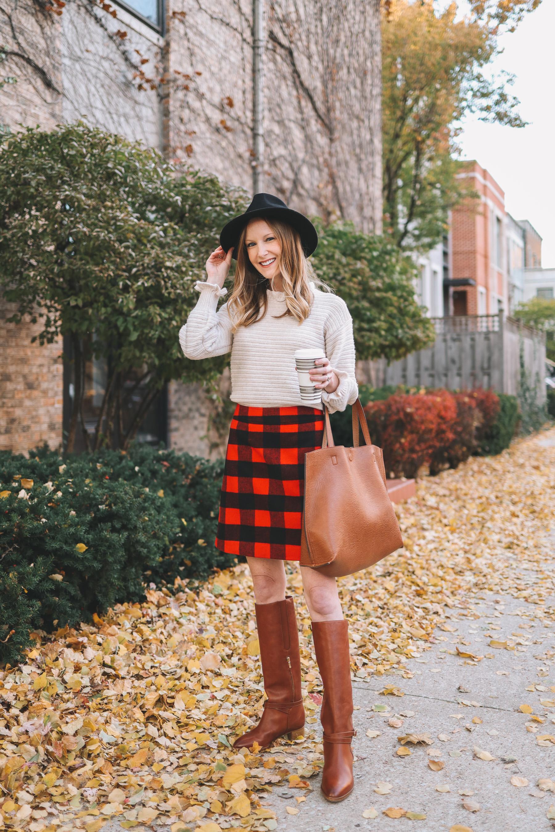 Buffalo Check Skirt