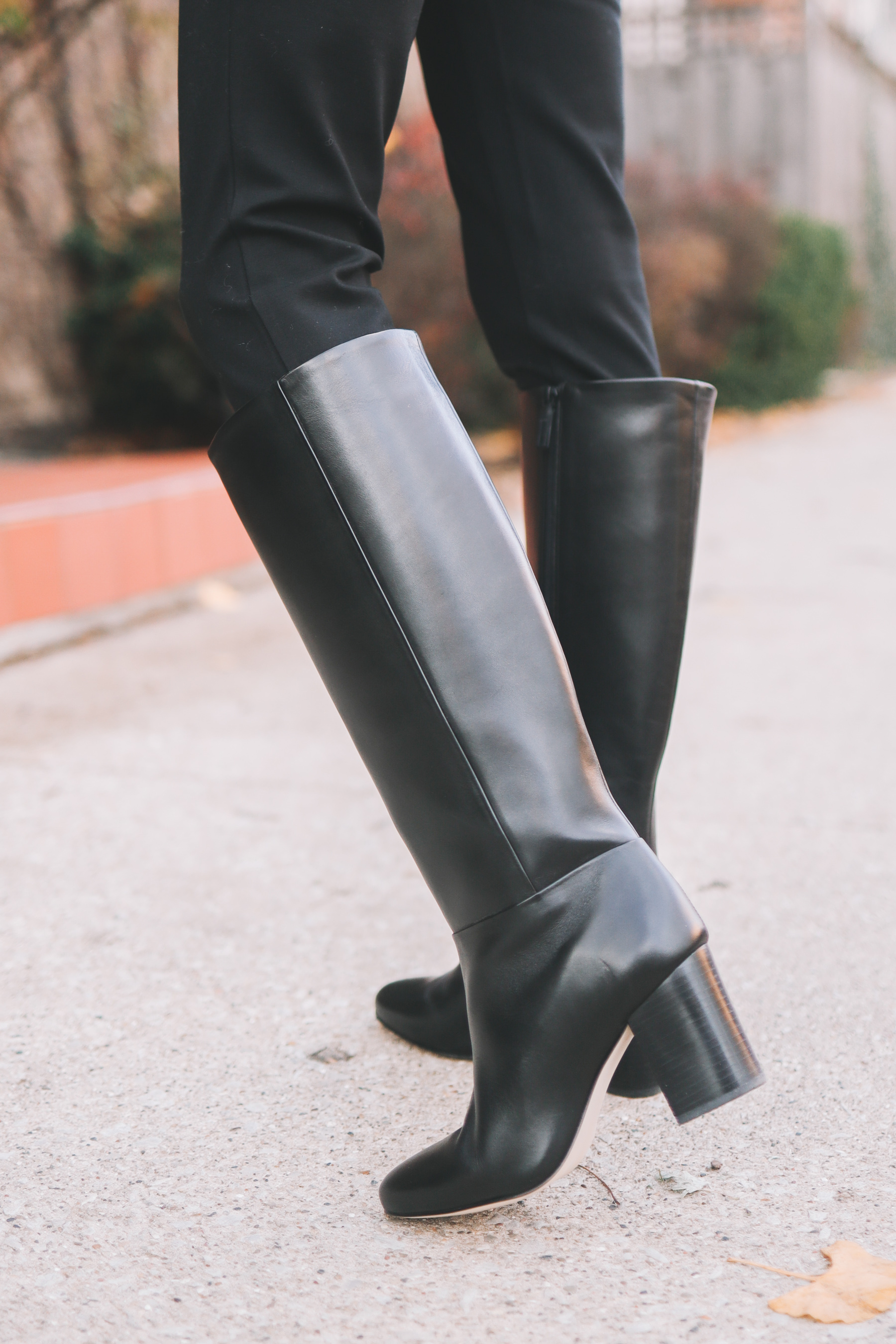 Chunky Heel Riding Boots