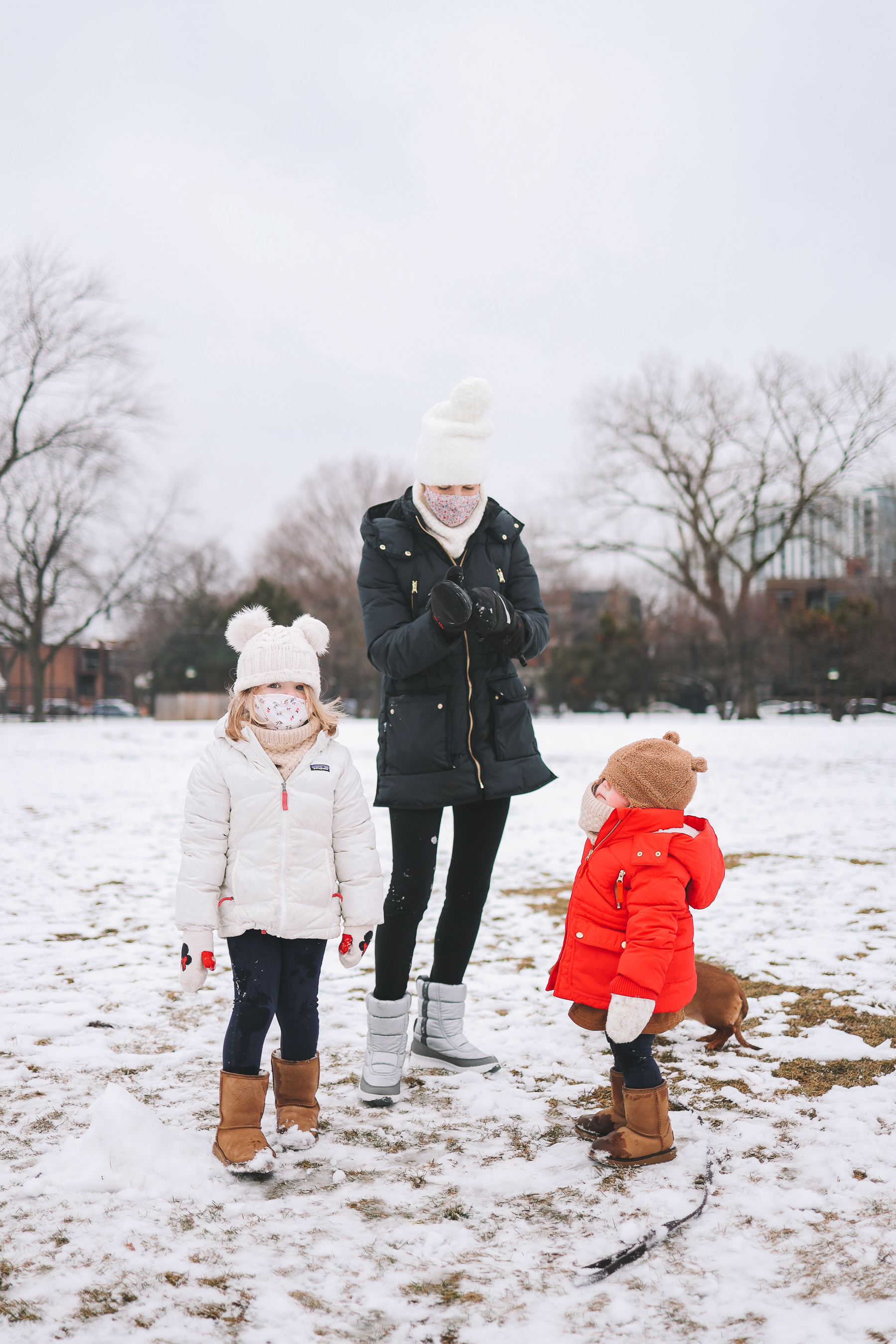 Oz Park Snow Day | toddler winter outfits