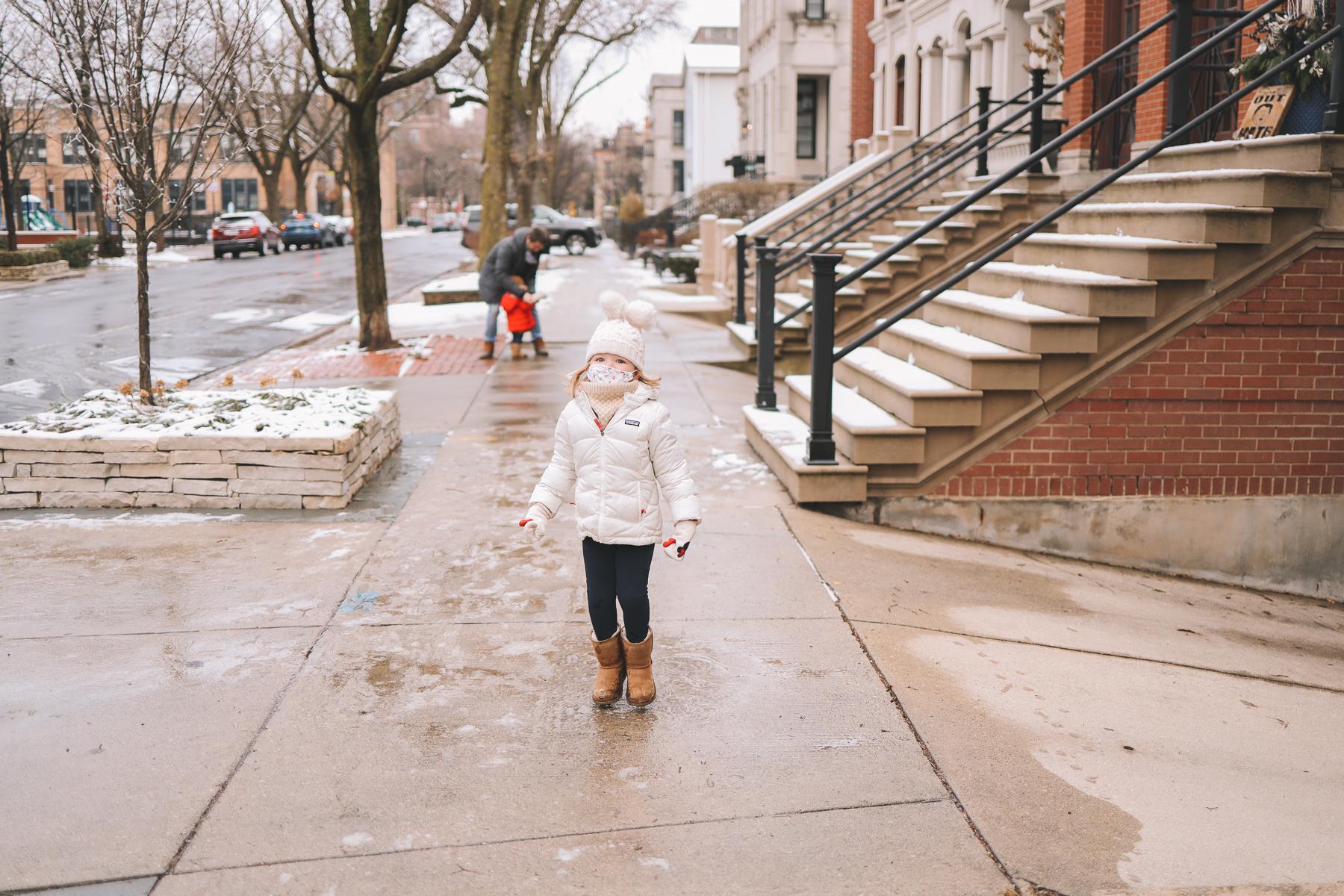 Oz Park Snow Day | kids winter wear