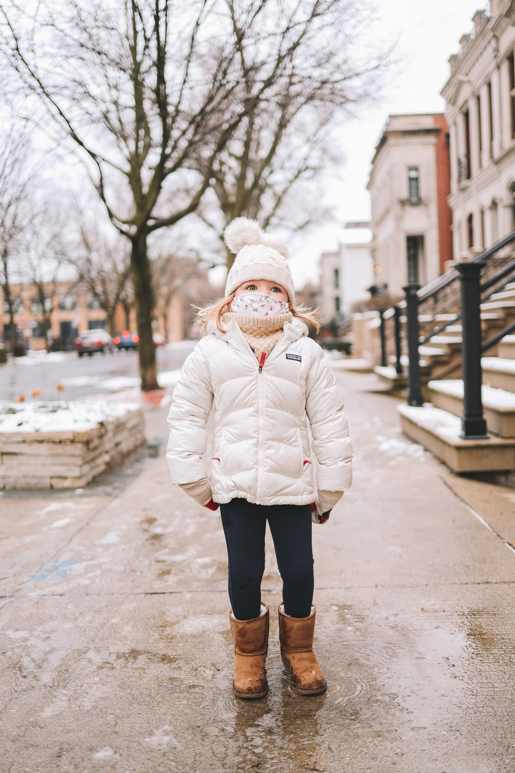 Oz Park Snow Day | toddler winter outfit