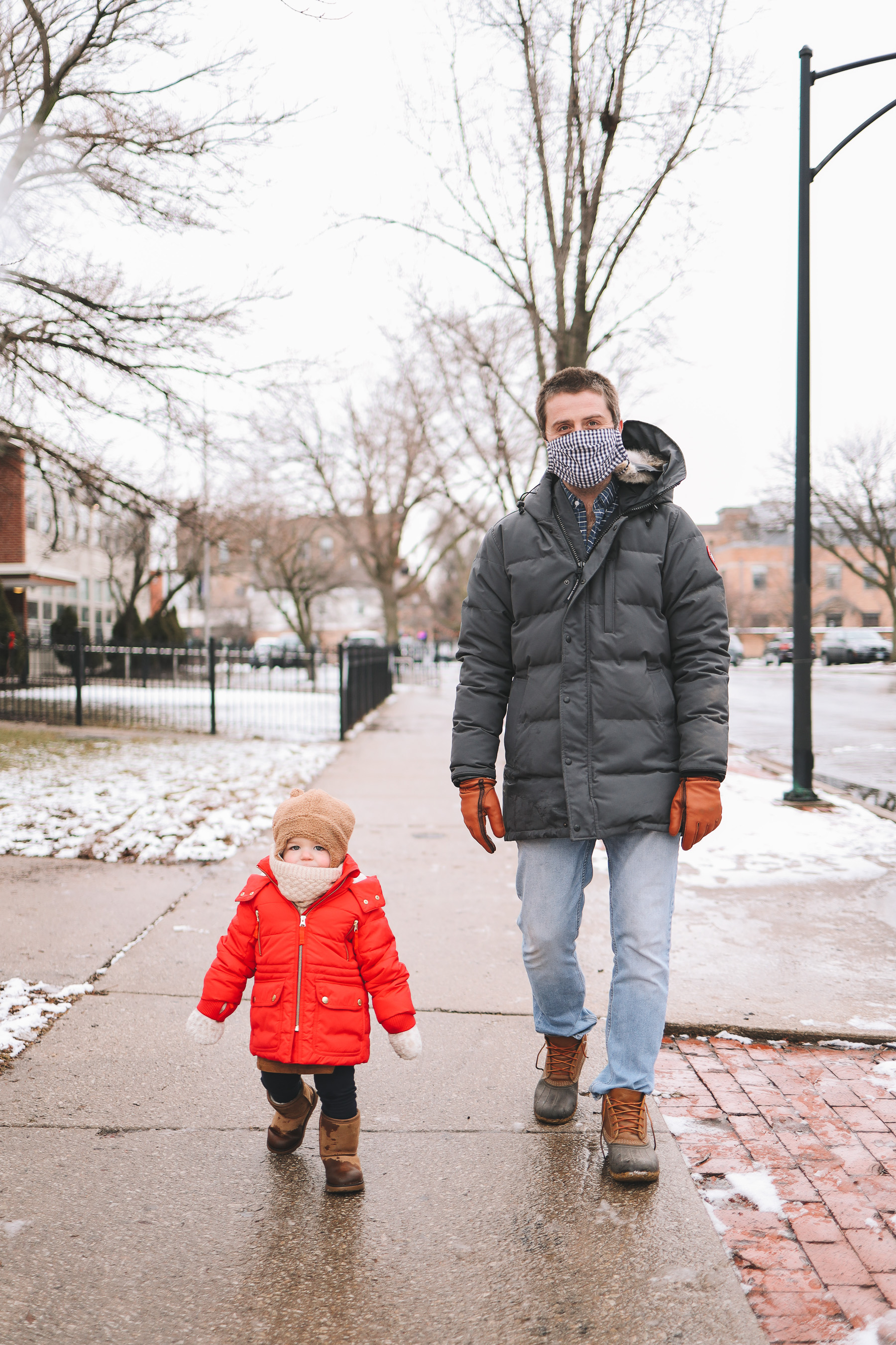 Oz Park Snow Day | toddler winter fashion