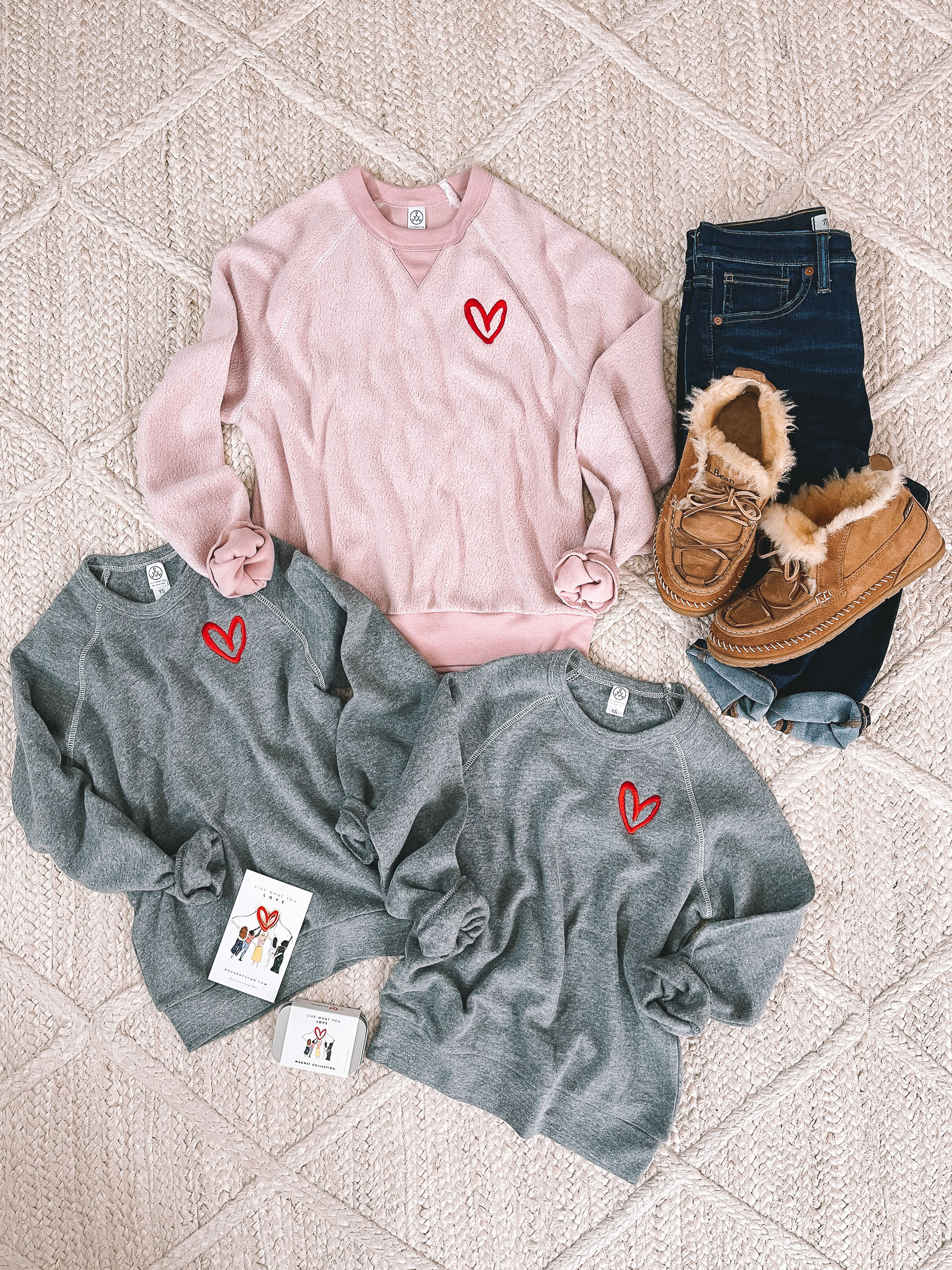 10 Preppy Valentines Day Outfits   House of Shan Sweatshirt / House of Shan Kids' Sweatshirts