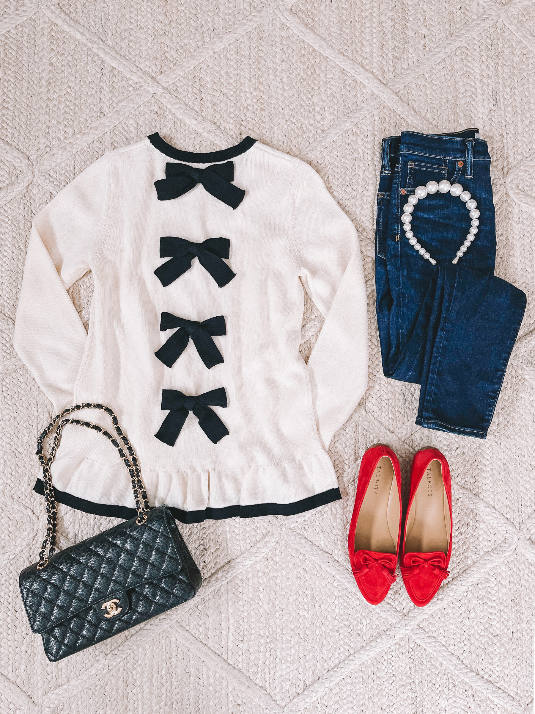 Sail to Sable x Jenn Lake Bow Sweater   10 Preppy Valentines Day Outfits