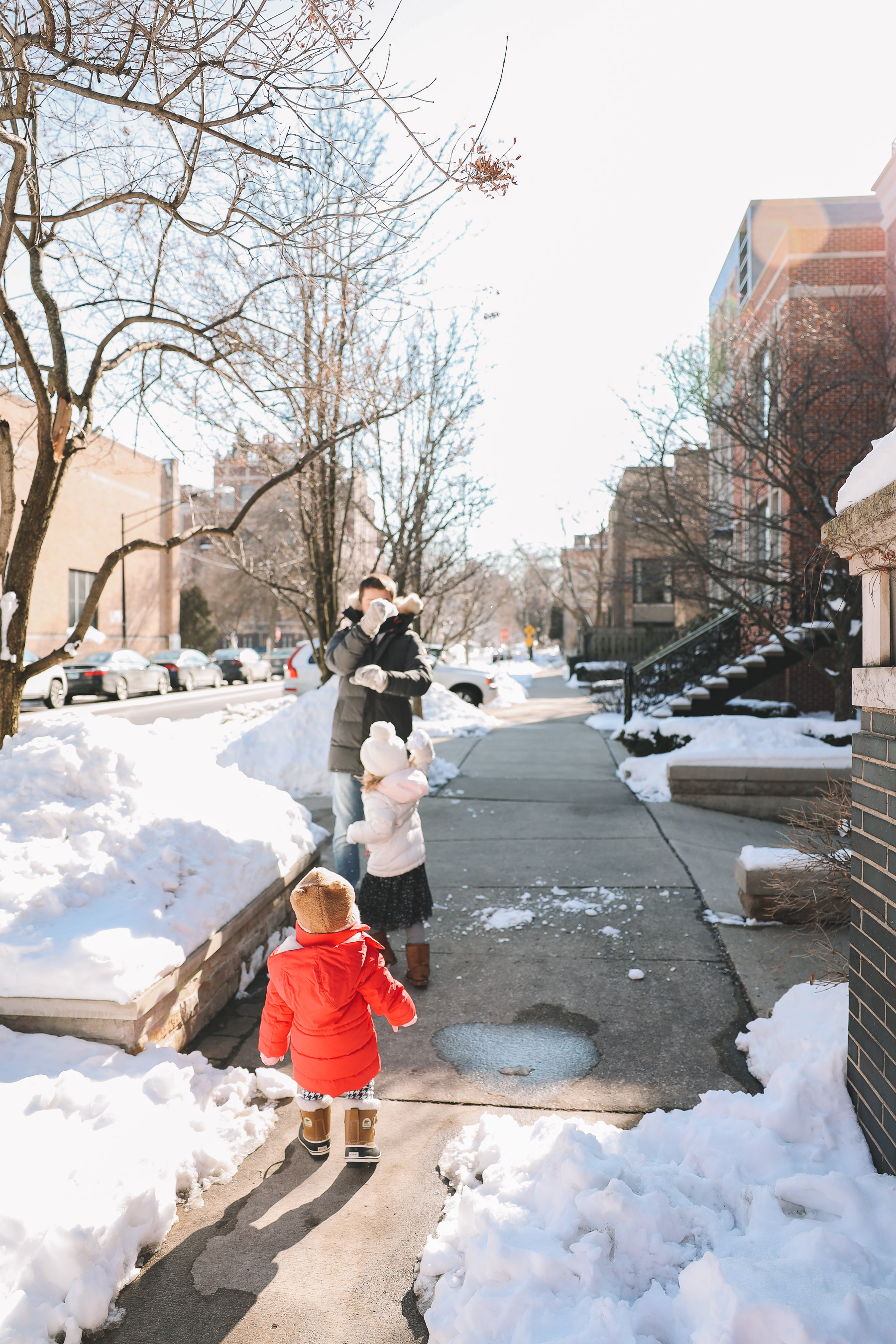 Toddler Sorels chicago snow day
