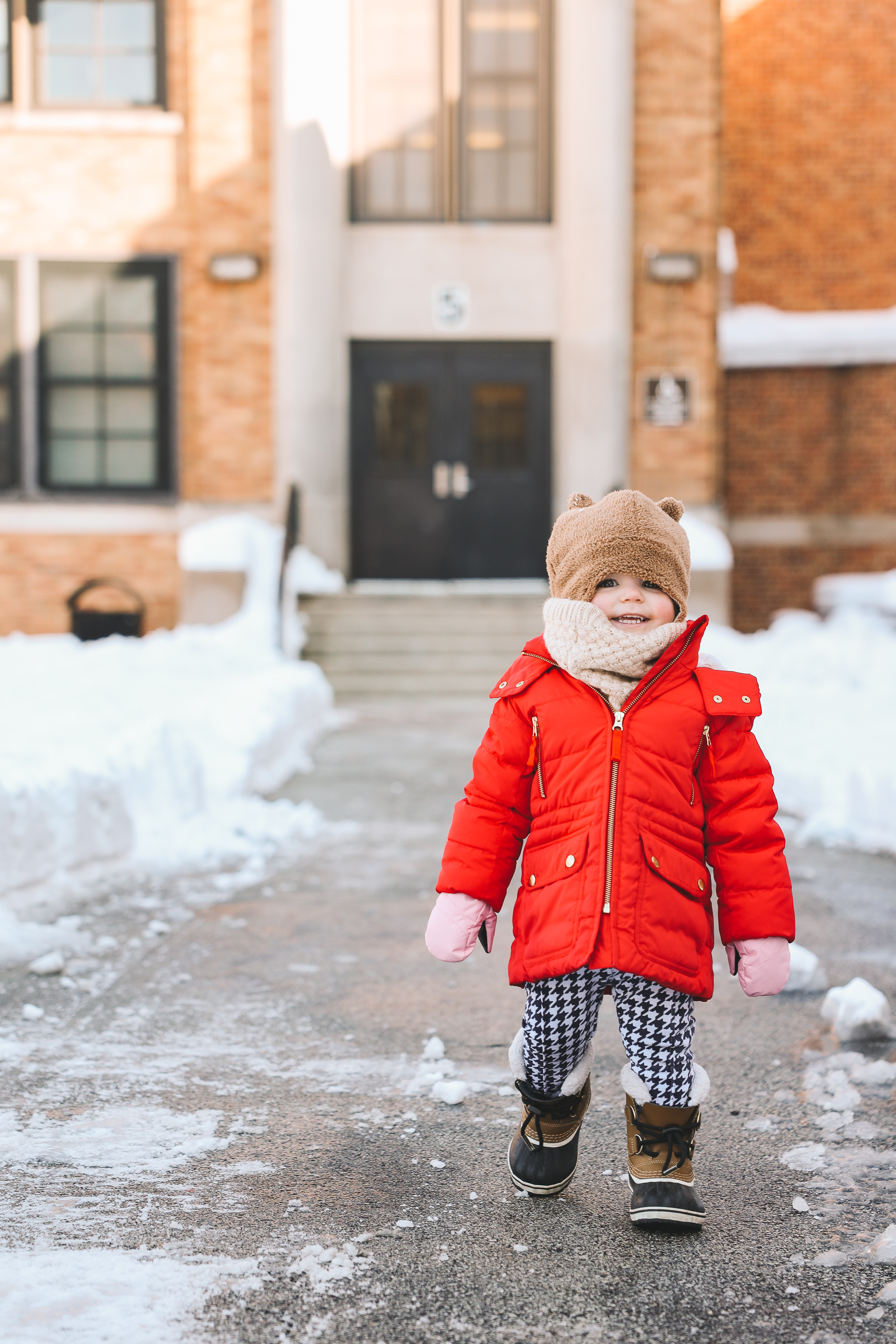 baby snow winter outfit | Toddler Sorel boots