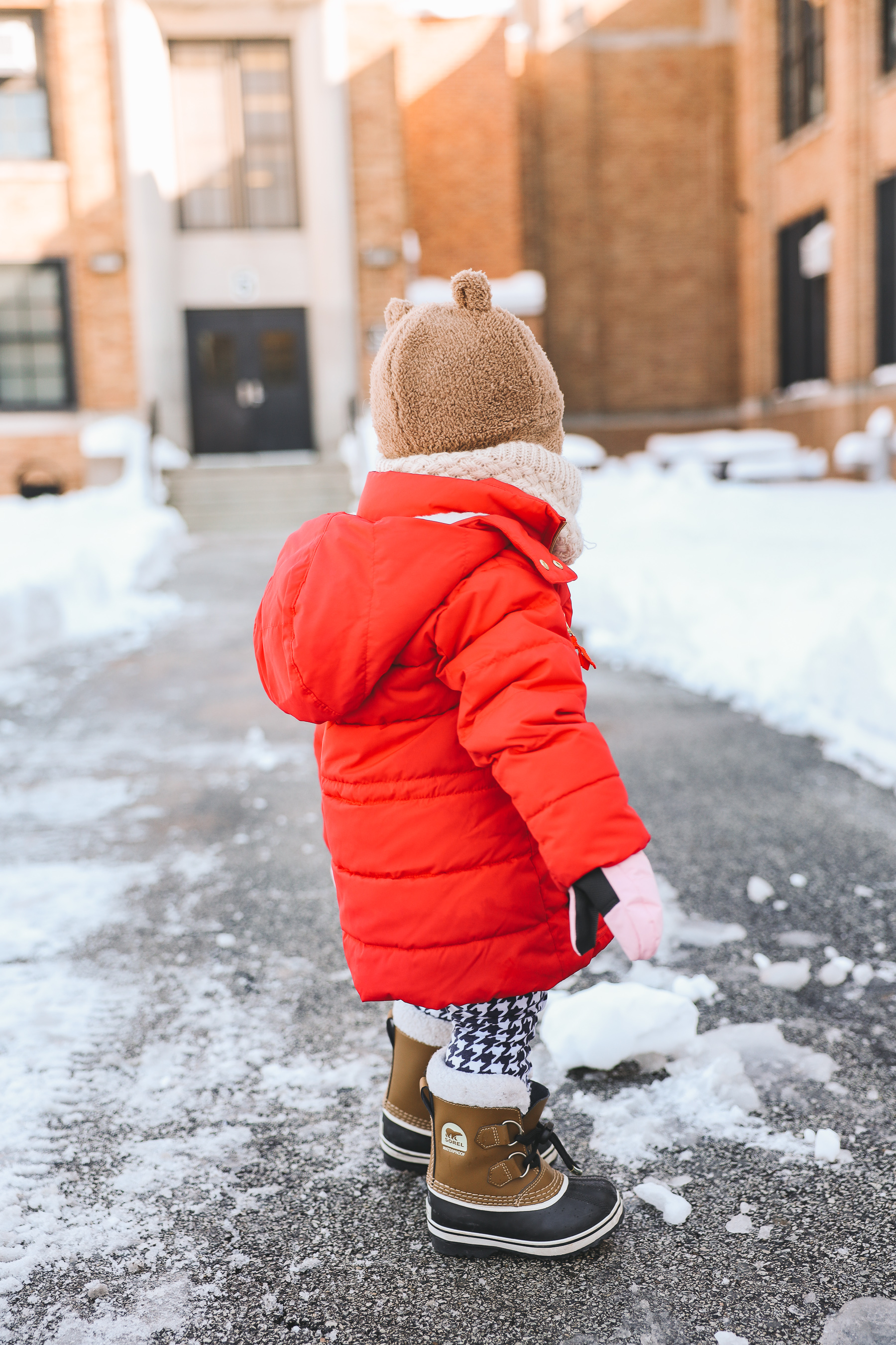 baby snow day wear | Toddler Sorel boots