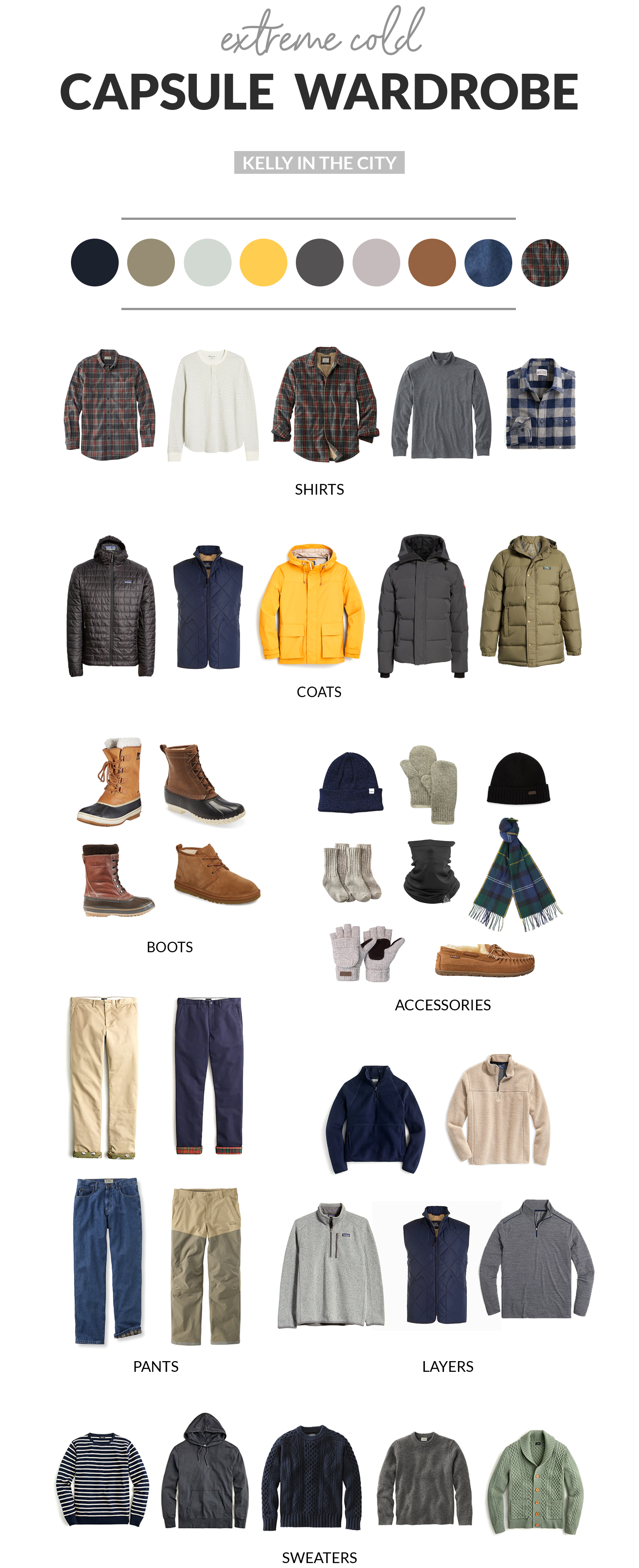 Mens Extreme Cold Capsule Wardrobe