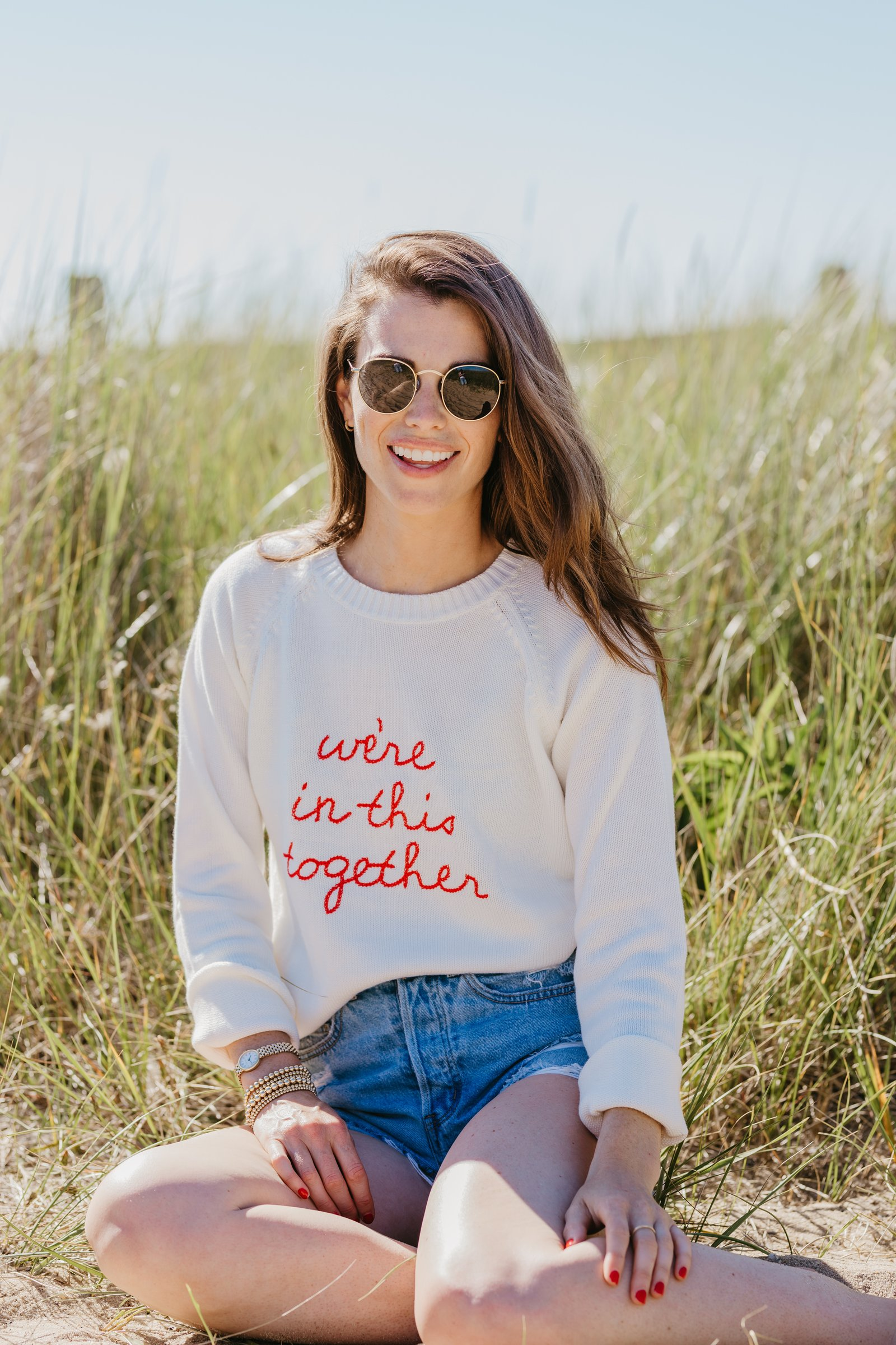 "Recent Finds 2/12 | Ellsworth & Ivy ""we're in this together"" Sweater"