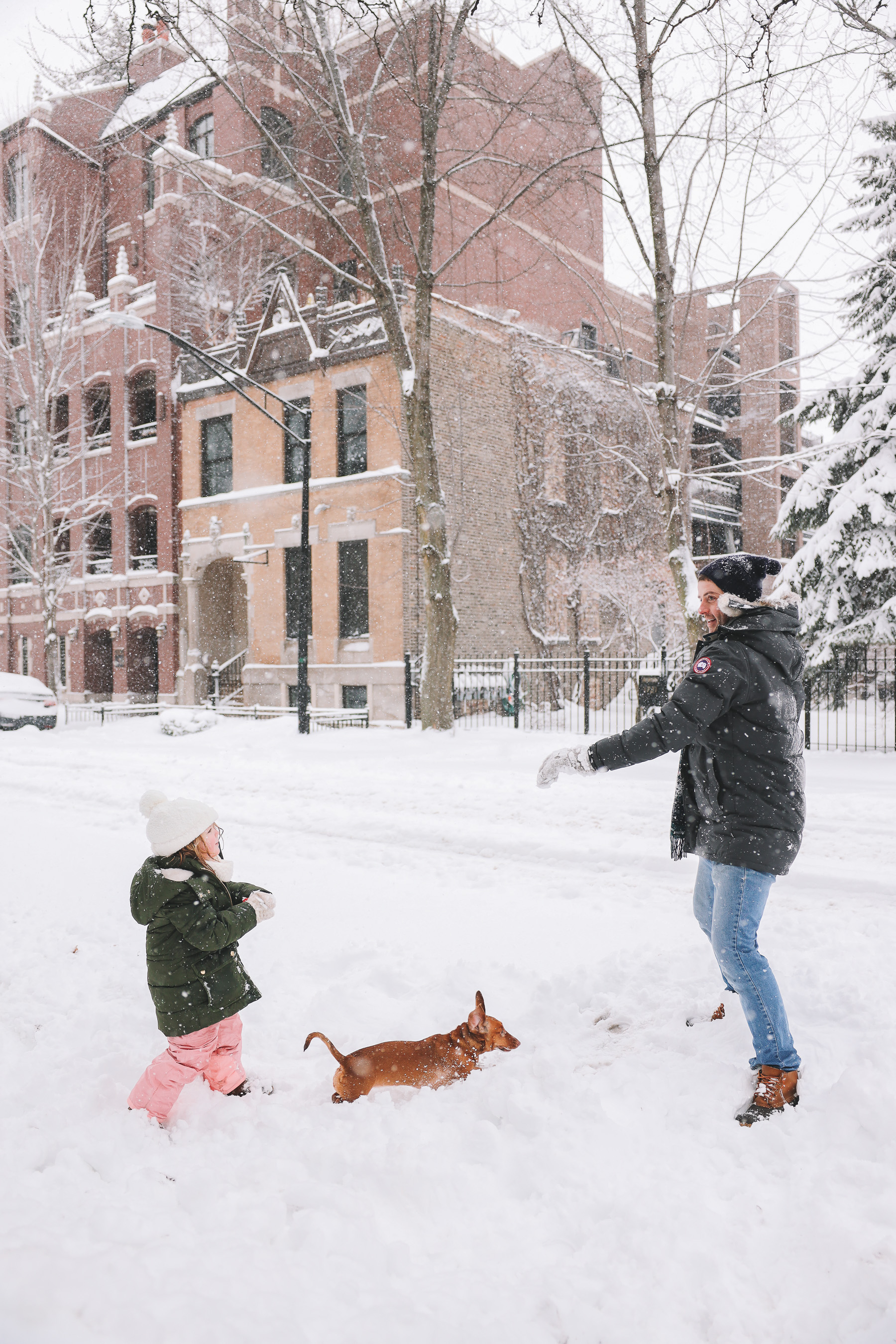 playing snow chicago | My new lens