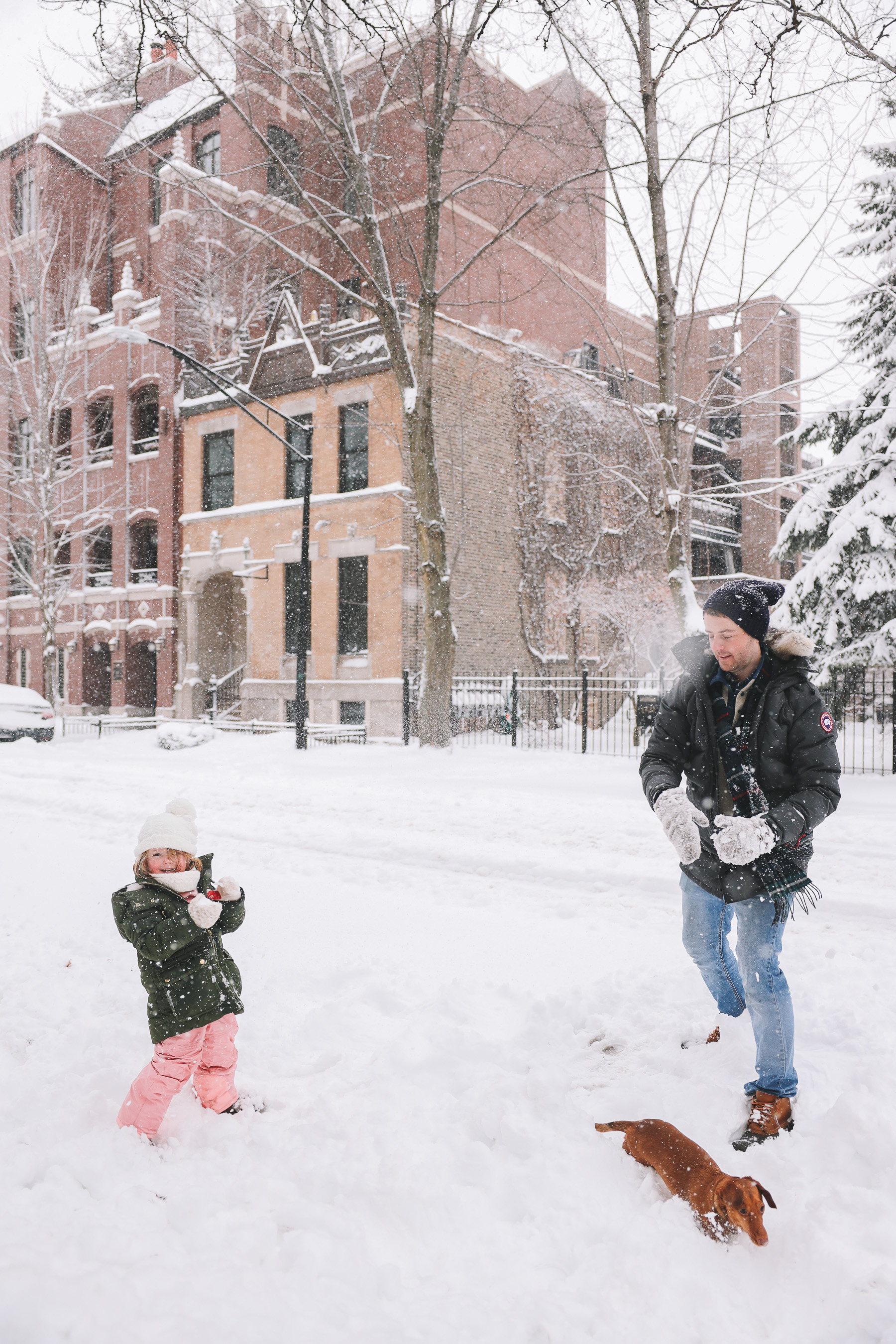chicago winter time snow | My new lens