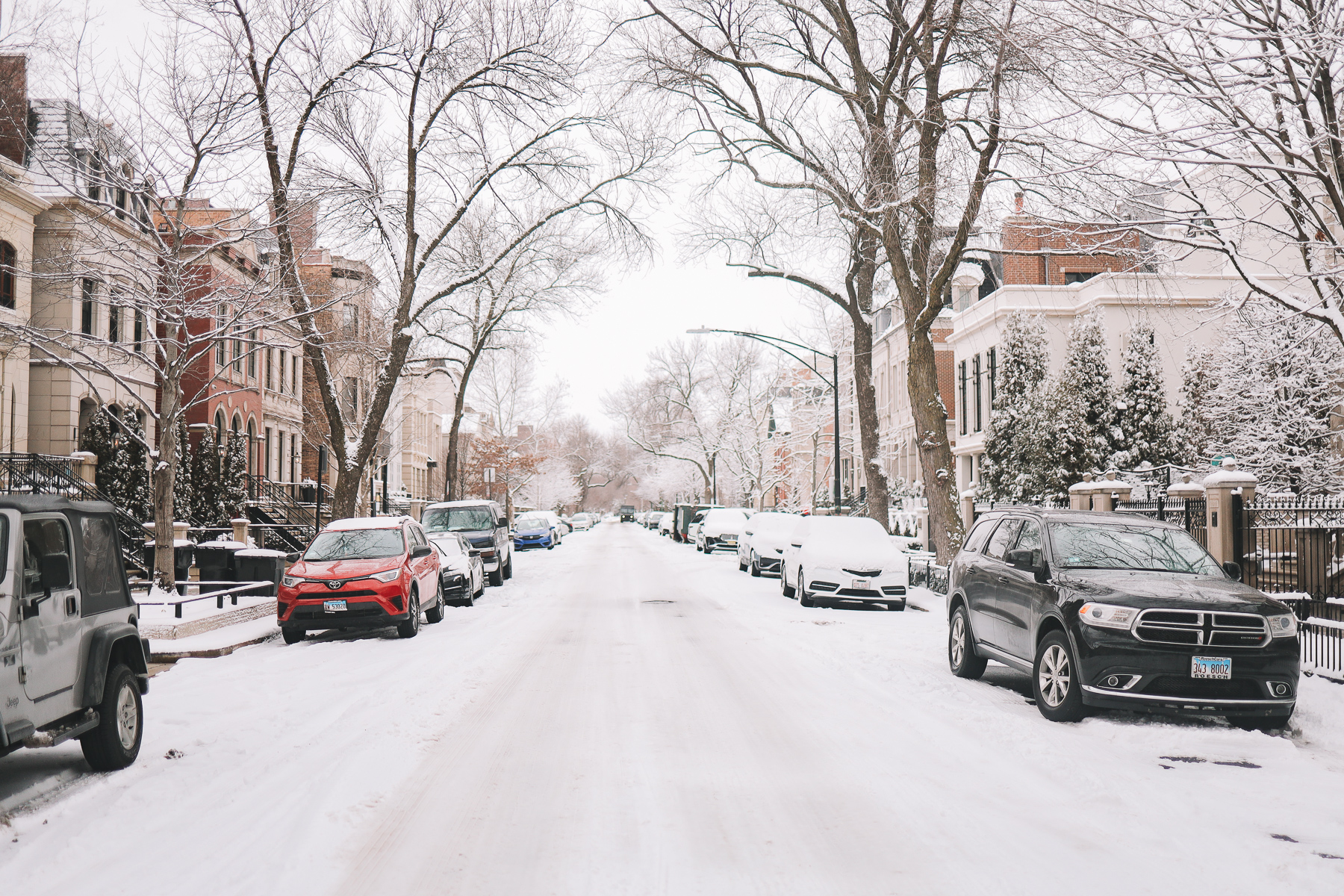 snowy chicago streets | Happiness Walk Through Lincoln Park