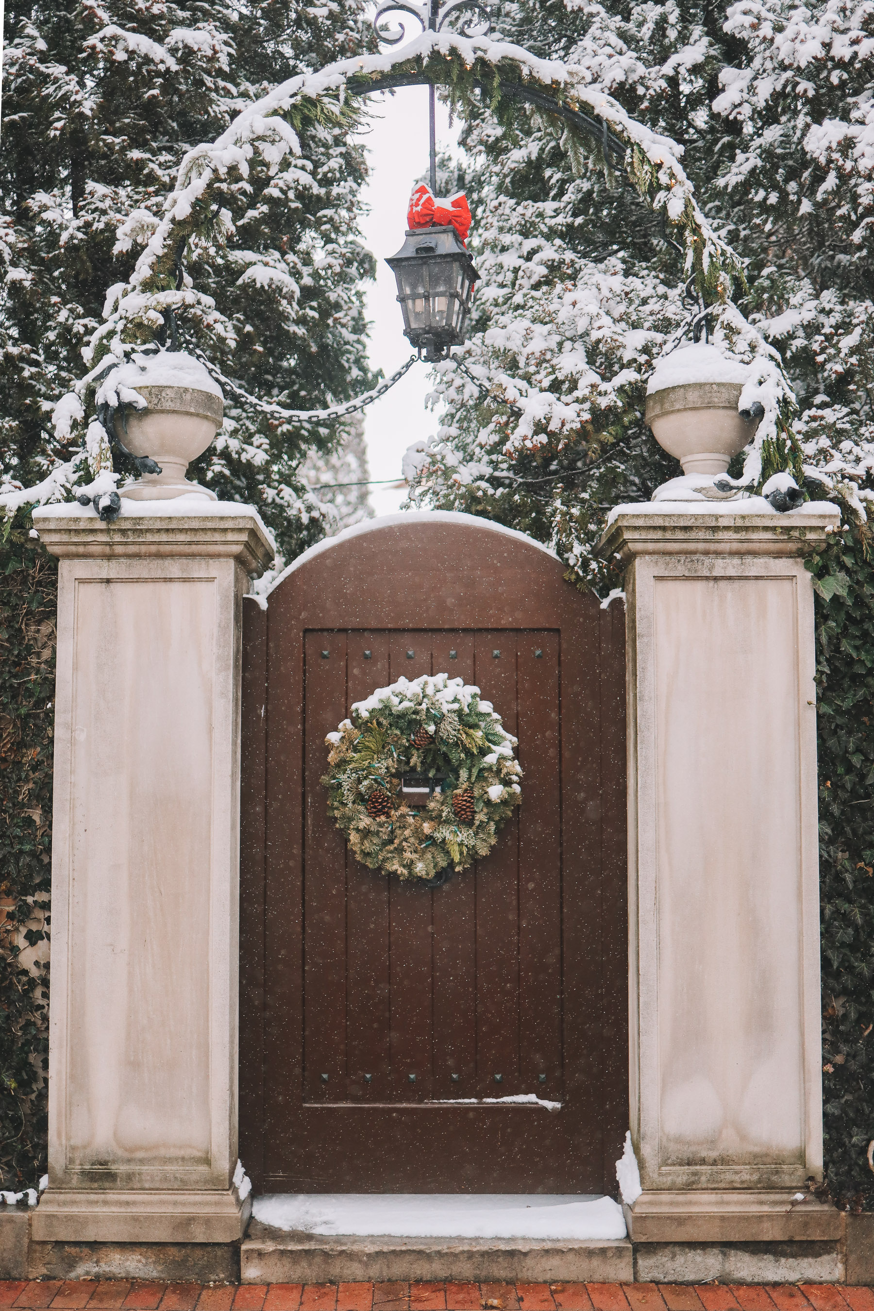 Lincoln Park neighborhood snow