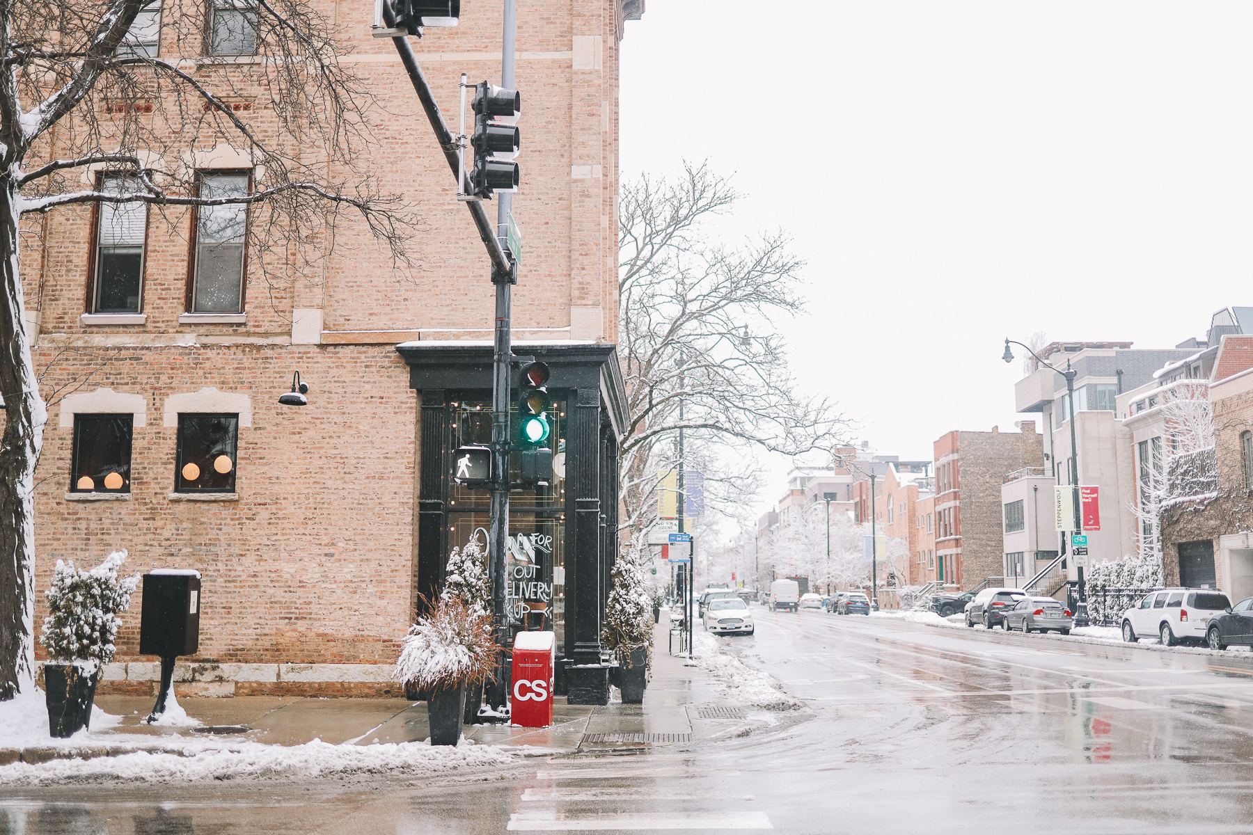 winter in chicago streets