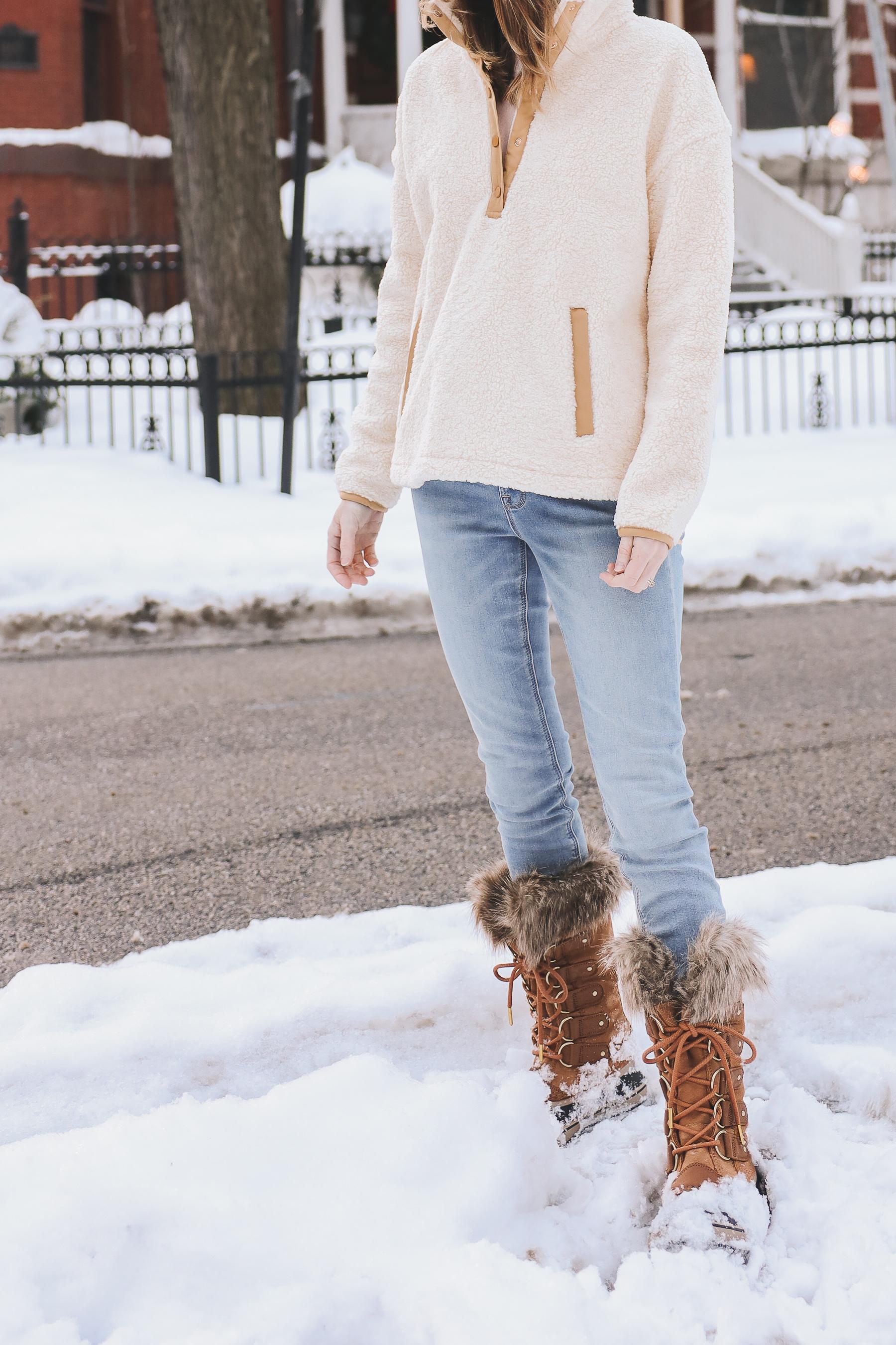 Fleece winter outfit idea