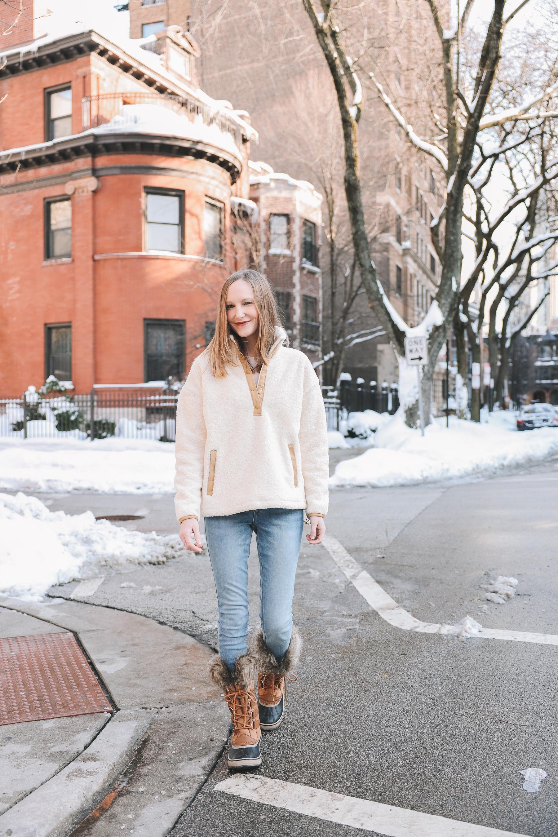 One/Third Fleece Jacket sale | winter outfit idea
