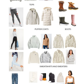 How to Build a Women's Extreme Cold Capsule Wardrobe