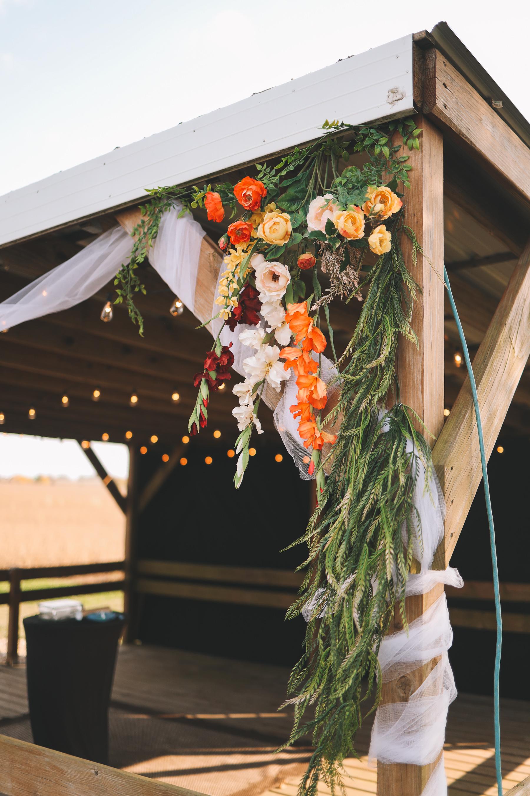 backyard wedding decor | Charlie and Shirleys Wedding