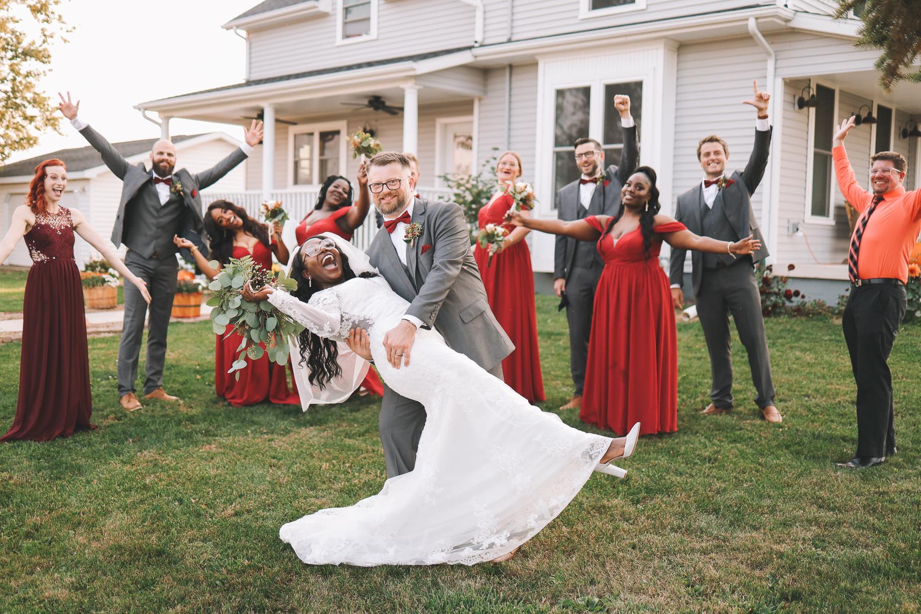 outdoor wedding moments